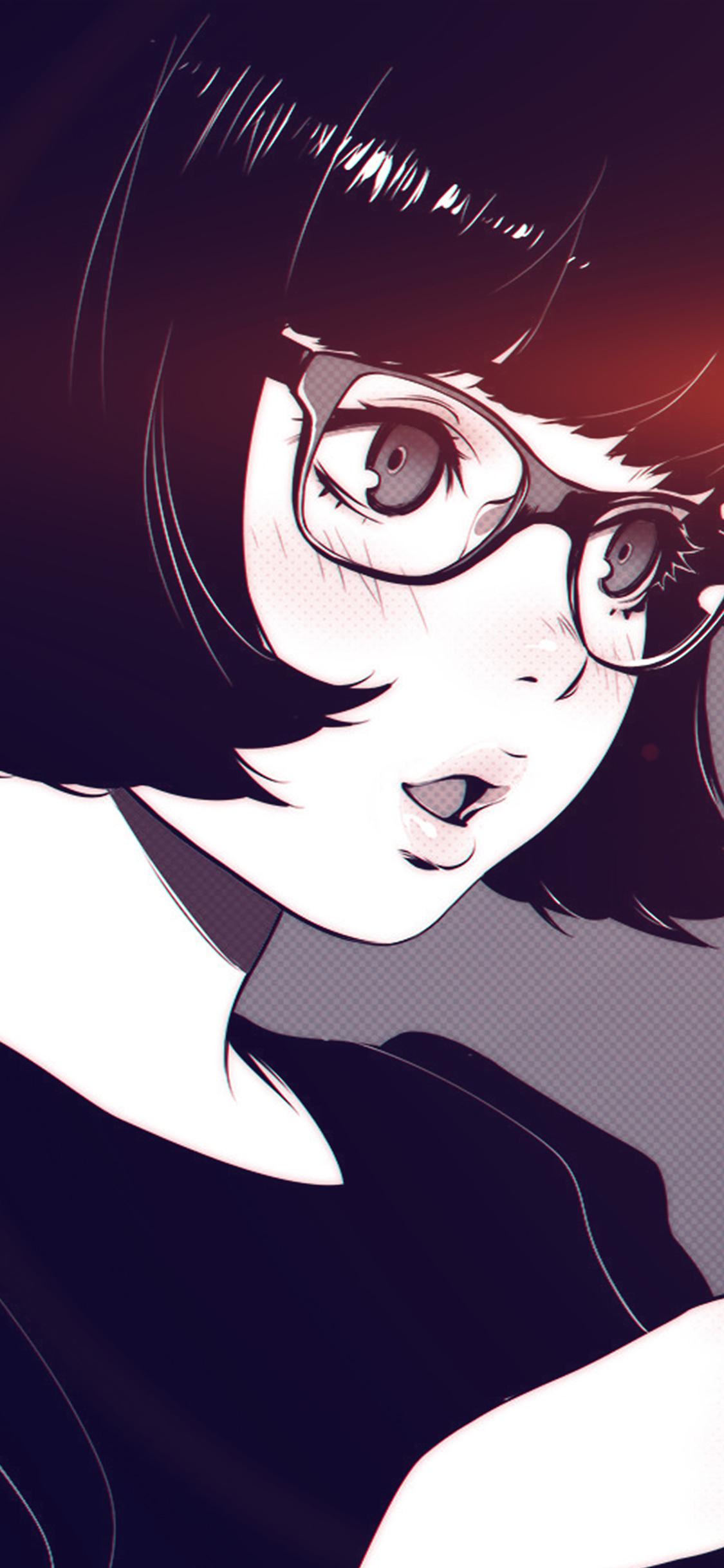 iPhonexpapers.com-Apple-iPhone-wallpaper-aw23-girl-bw-anime-ilya-kuvshinov-illustration-art-flare