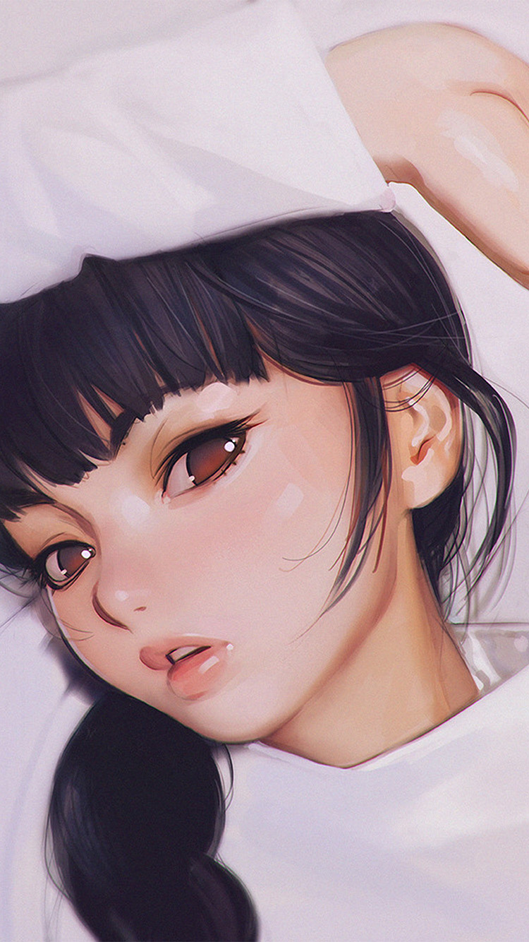 iPhone7papers.com-Apple-iPhone7-iphone7plus-wallpaper-aw24-ilya-kuvshinov-anime-girl-shy-cute-illustration-art
