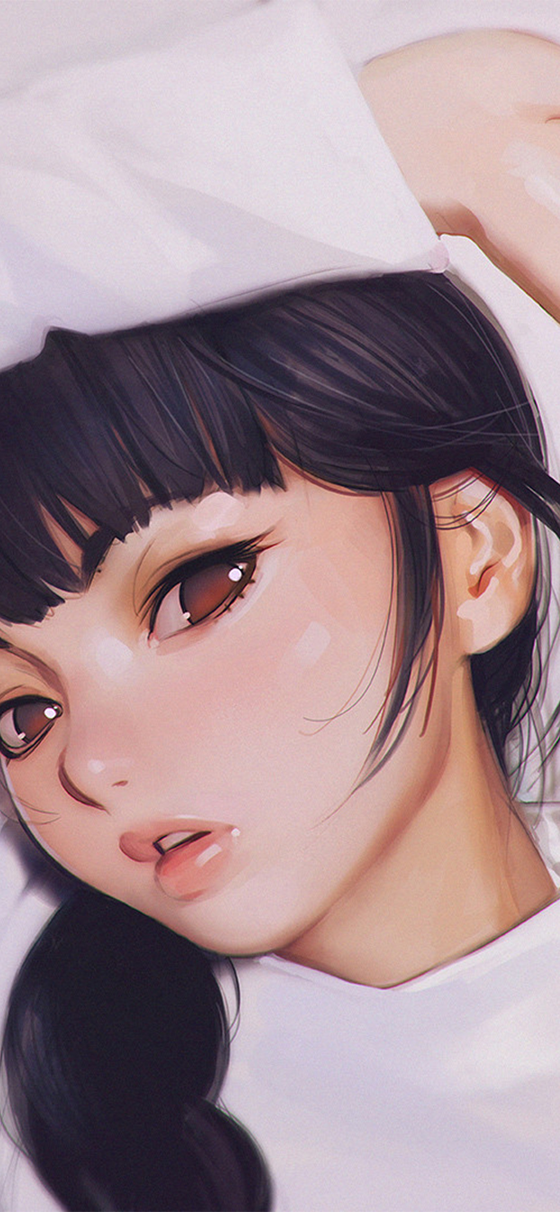 iPhoneXpapers.com-Apple-iPhone-wallpaper-aw24-ilya-kuvshinov-anime-girl-shy-cute-illustration-art