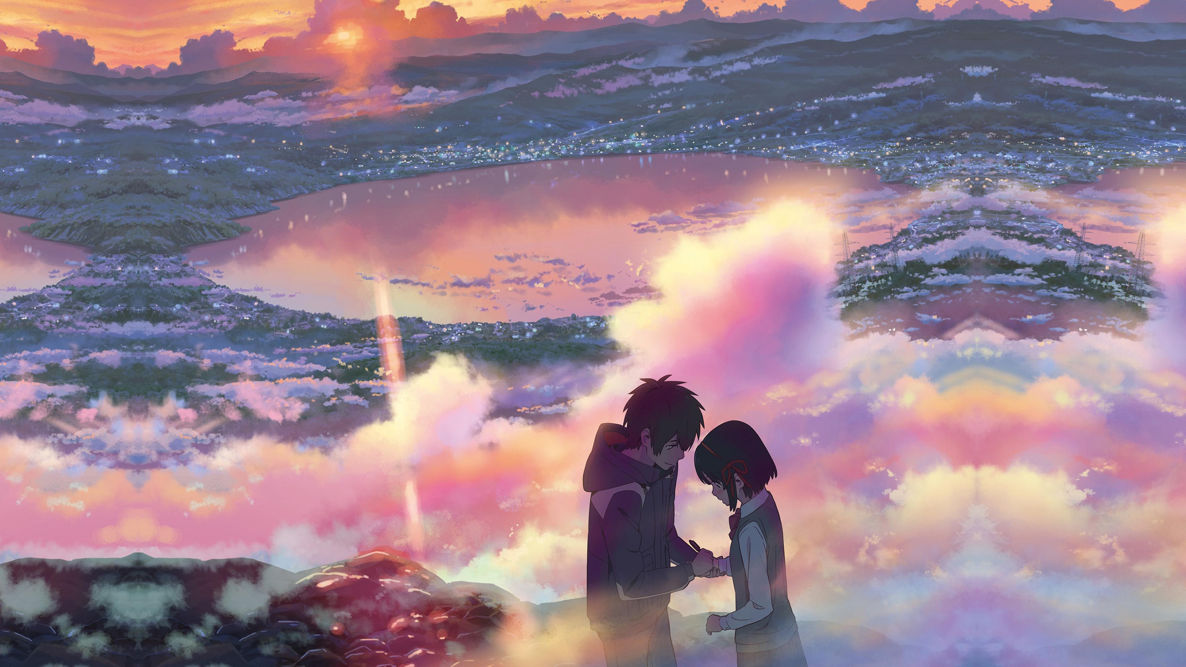 Aw26 Yourname Anime Filme Illustration Art Wallpaper
