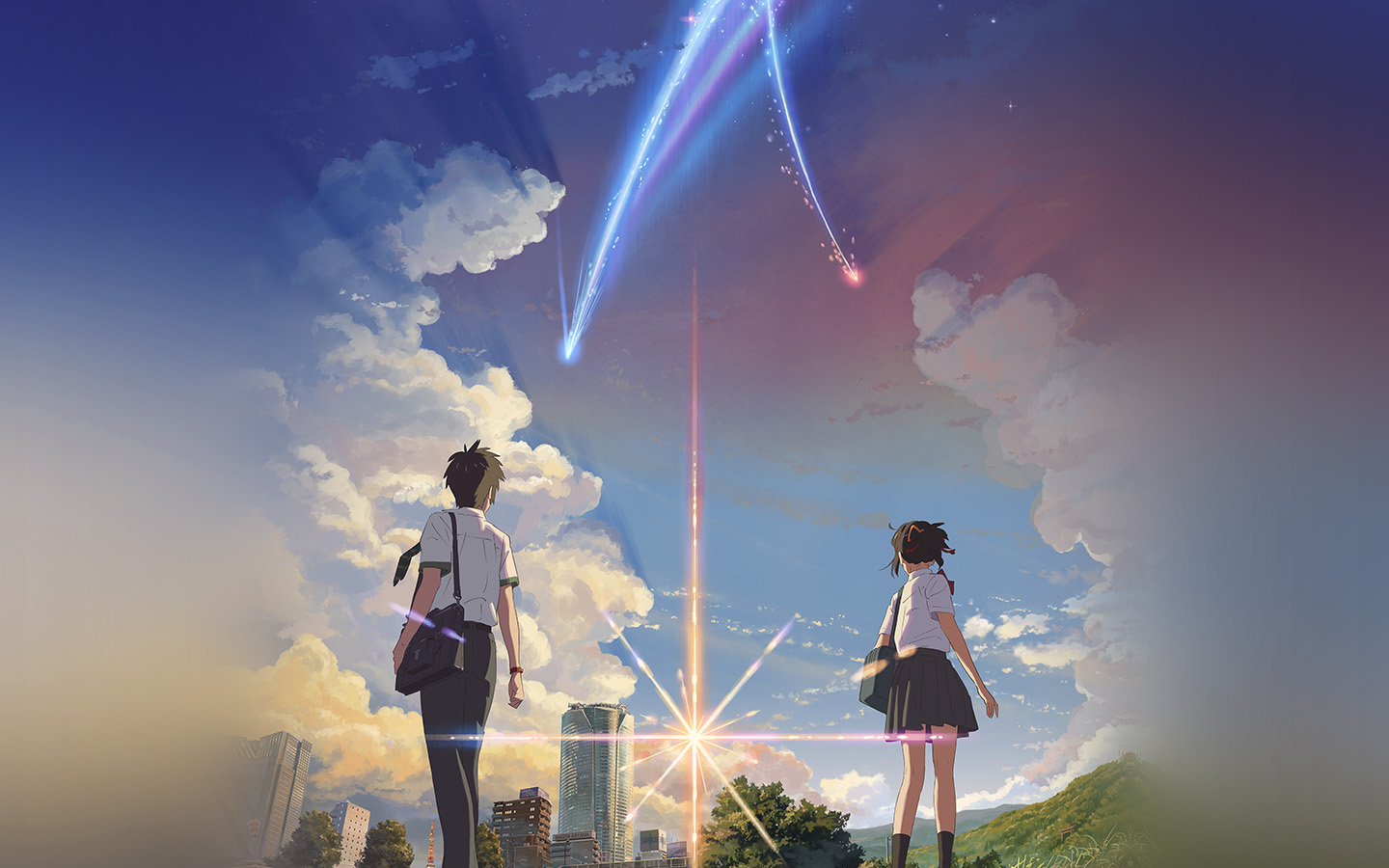 Aw27 Anime Film Yourname Sky Illustration Art Wallpaper