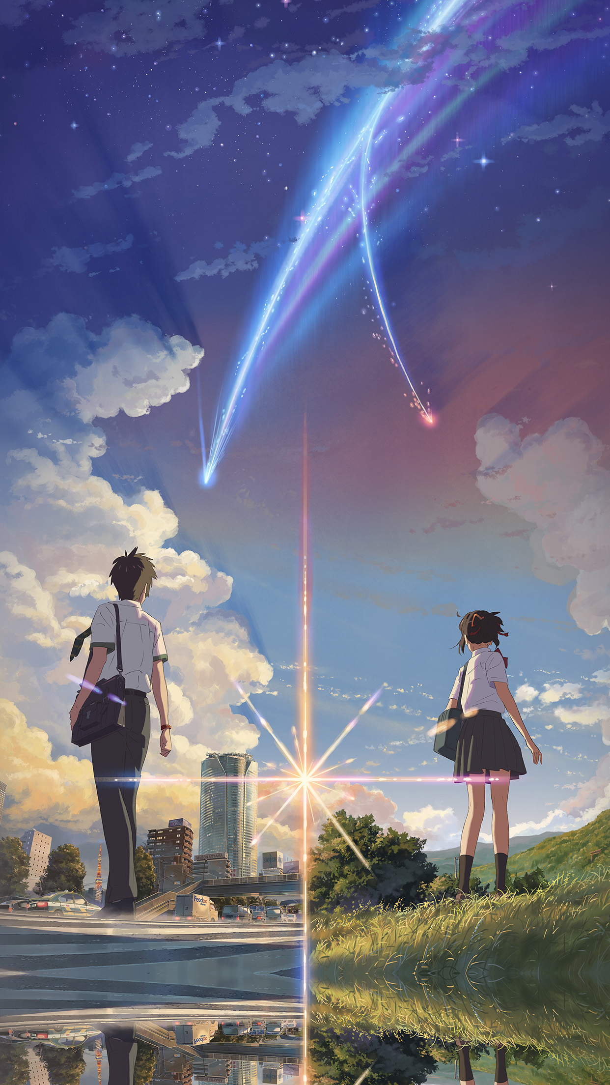 I love papers aw27 anime film yourname sky illustration art iphone 6 voltagebd Gallery