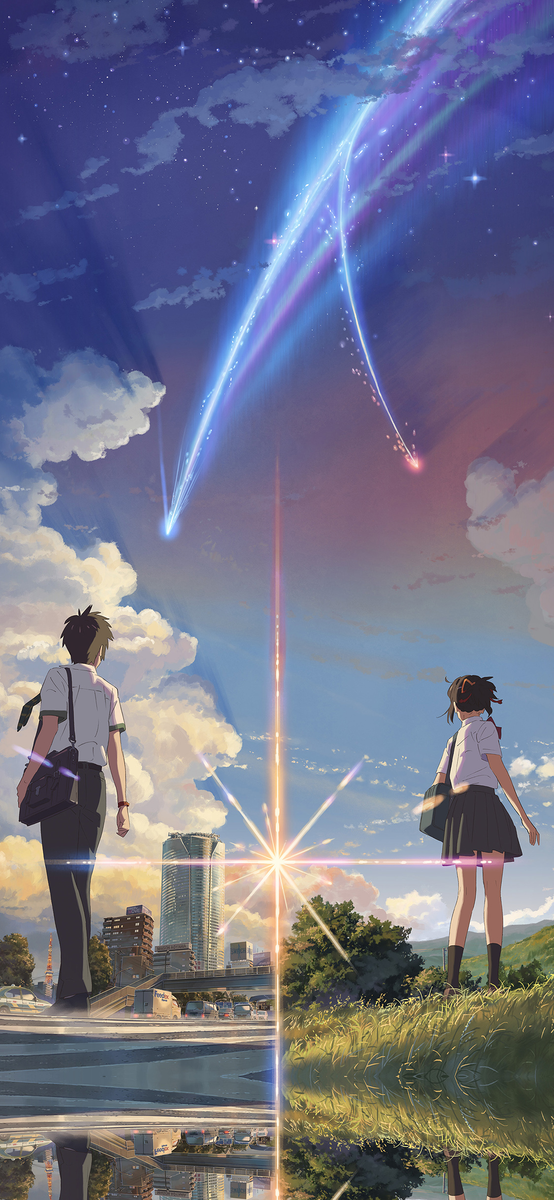 iPhoneXpapers.com-Apple-iPhone-wallpaper-aw27-anime-film-yourname-sky-illustration-art