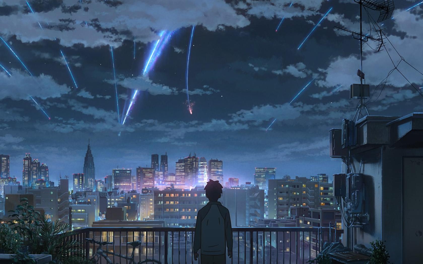 Aw28 Yourname Night Anime Sky Illustration Art Wallpaper