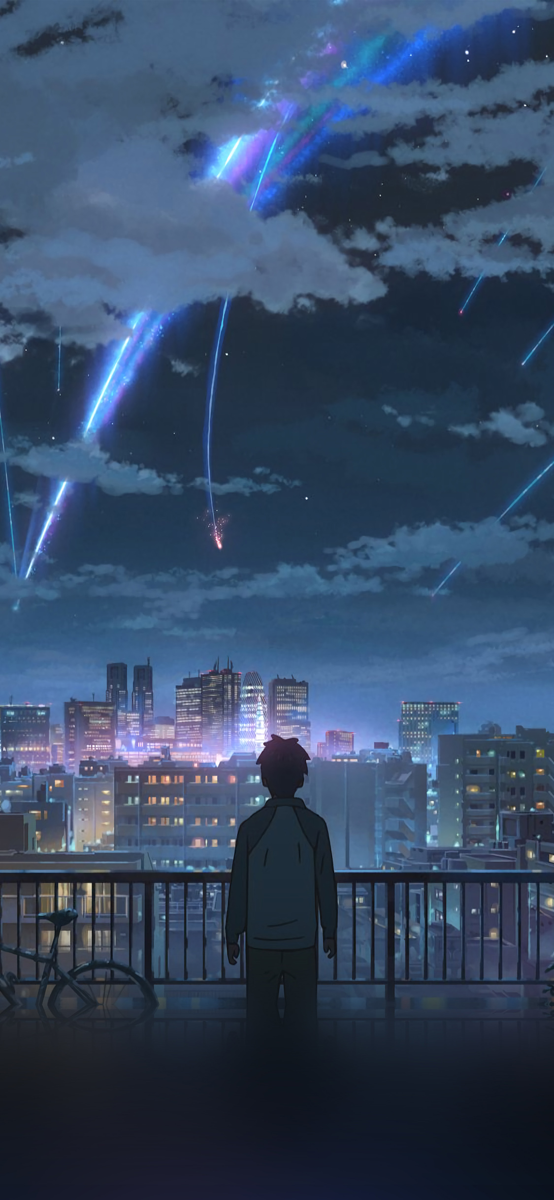 Aw28 Yourname Night Anime Sky Illustration Art Wallpaper