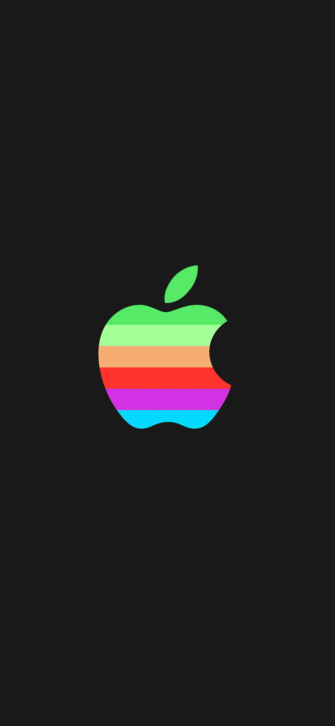 iPhoneXpapers.com-Apple-iPhone-wallpaper-aw33-minimal-logo-apple-dark-rainbow-illustration-art