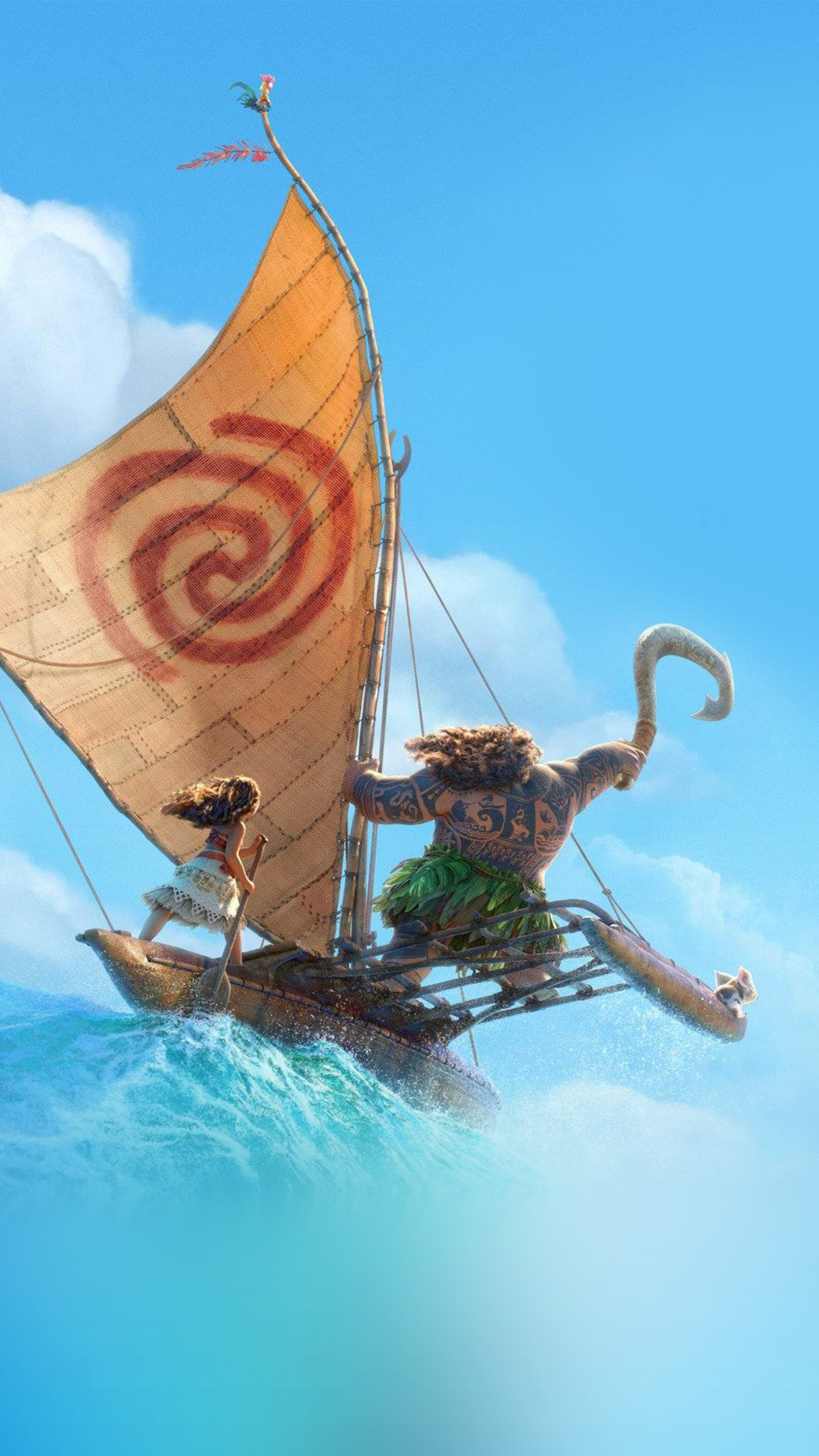 PAPERS.co   iPhone wallpaper   aw39-surf-moana-disney-film ...