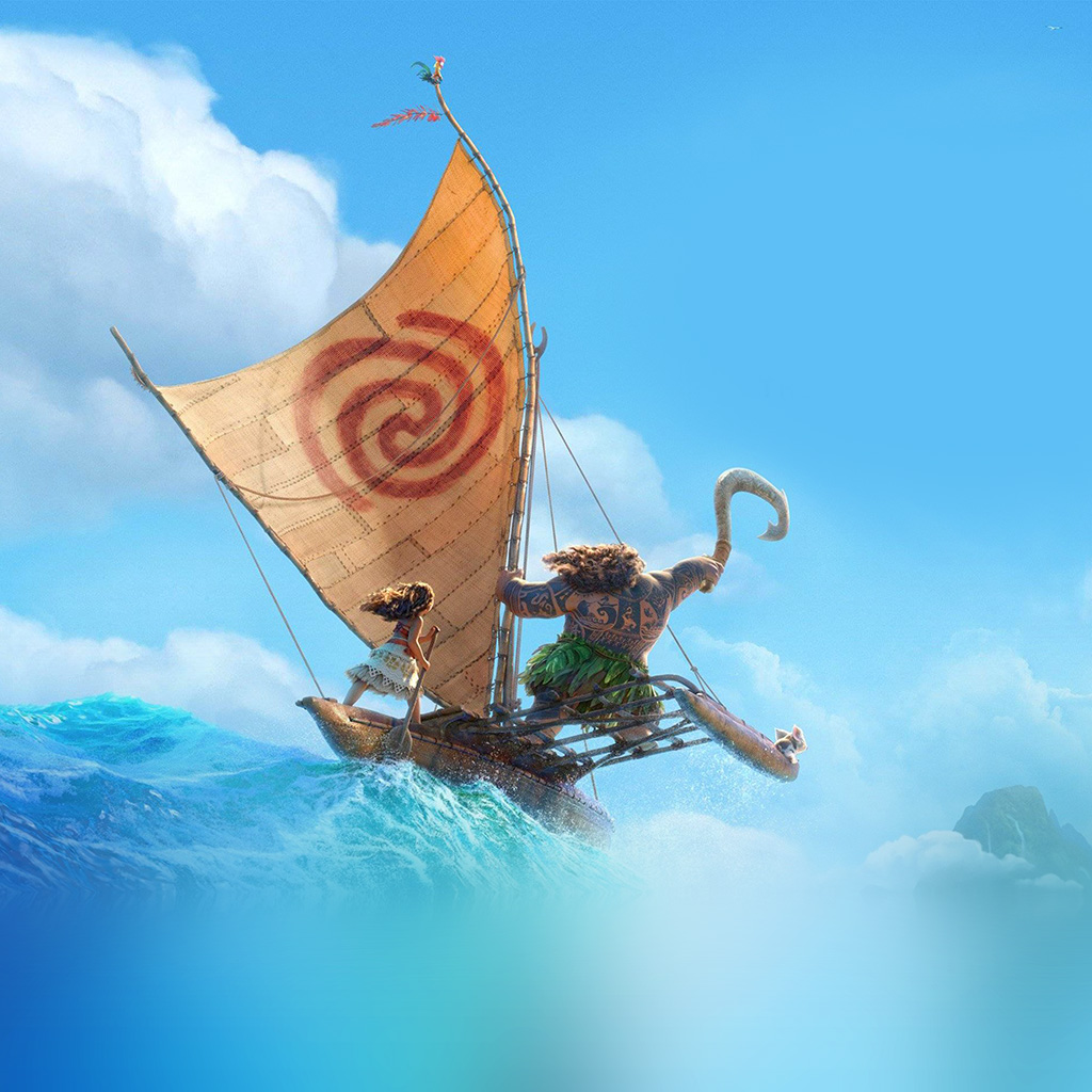 wallpaper-aw39-surf-moana-disney-film-anime-summer-sea-illustration-art-wallpaper