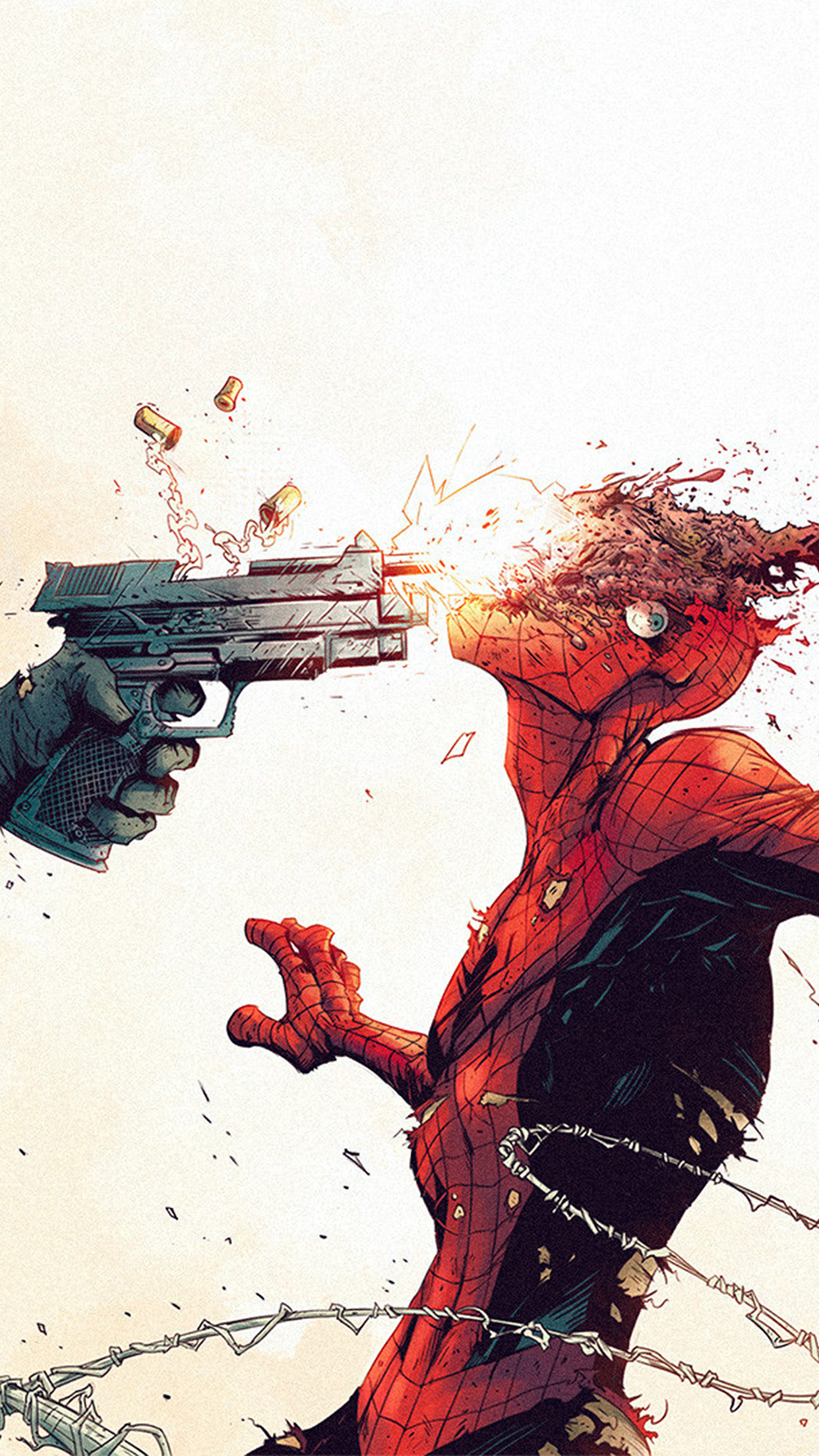Iphone wallpaper aw51 punisher spiderman - Classic art wallpaper iphone 5 ...