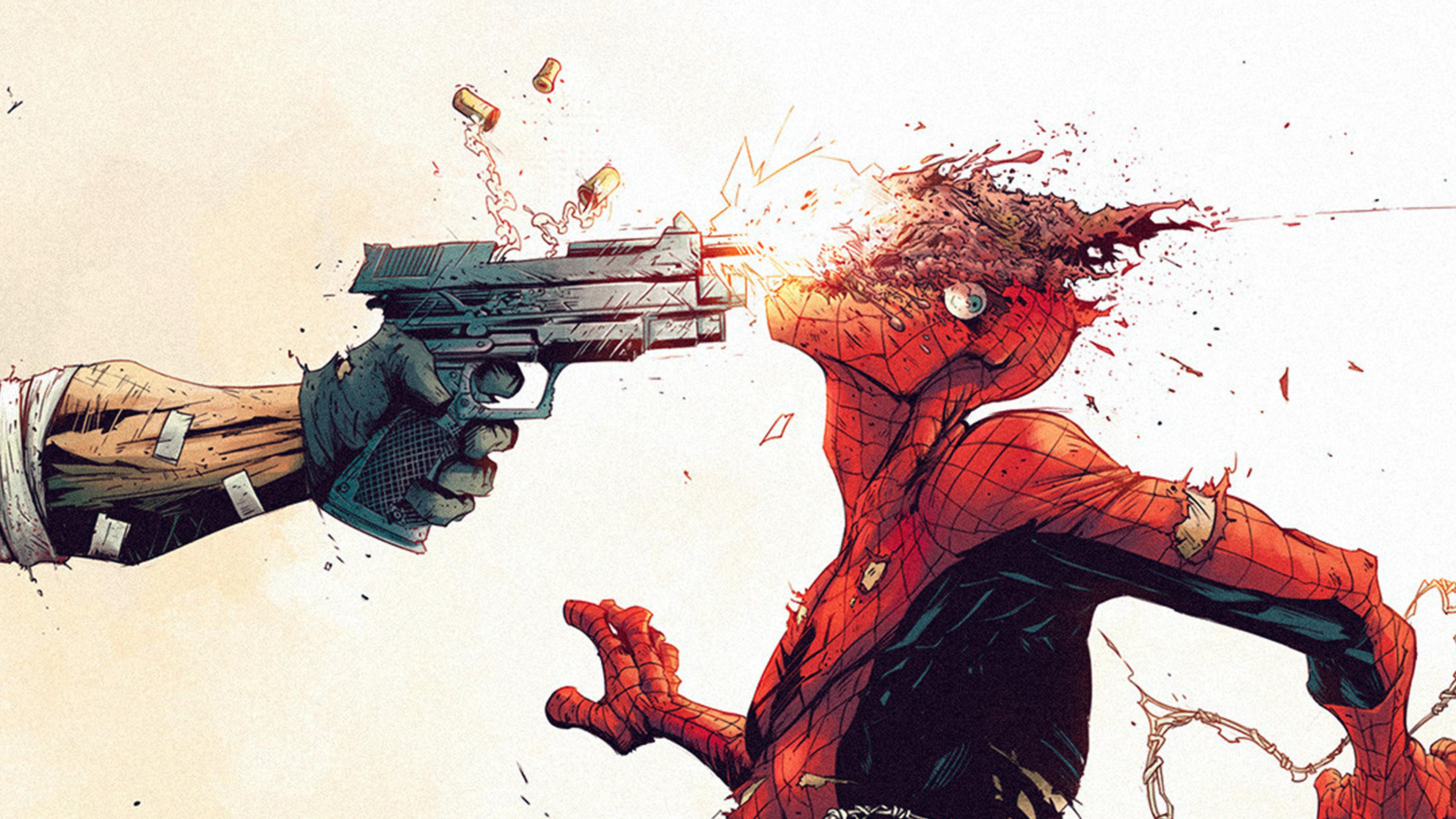 Aw51 Punisher Spiderman Tonton Revolver Illustration Art Gun Wallpaper