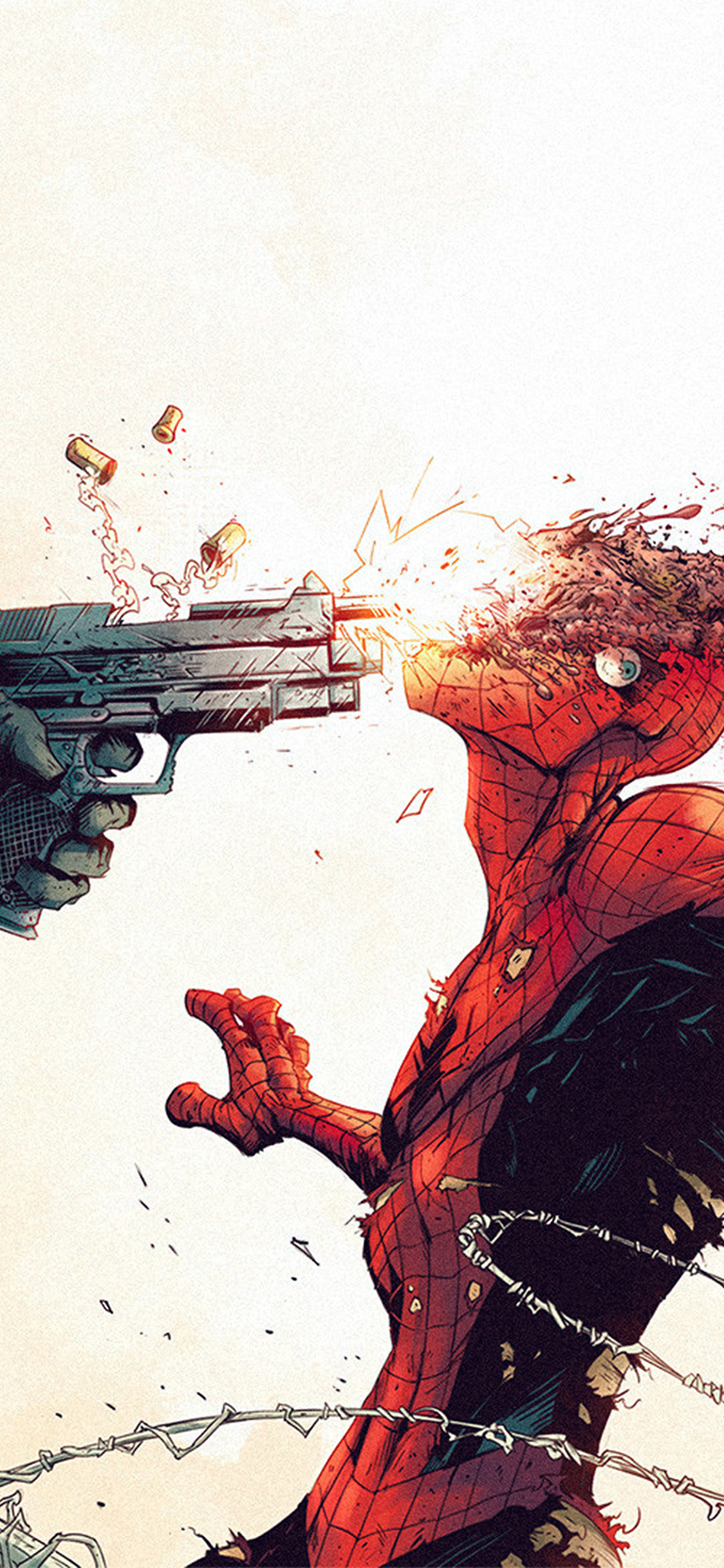 iPhoneXpapers.com-Apple-iPhone-wallpaper-aw51-punisher-spiderman-tonton-revolver-illustration-art-gun