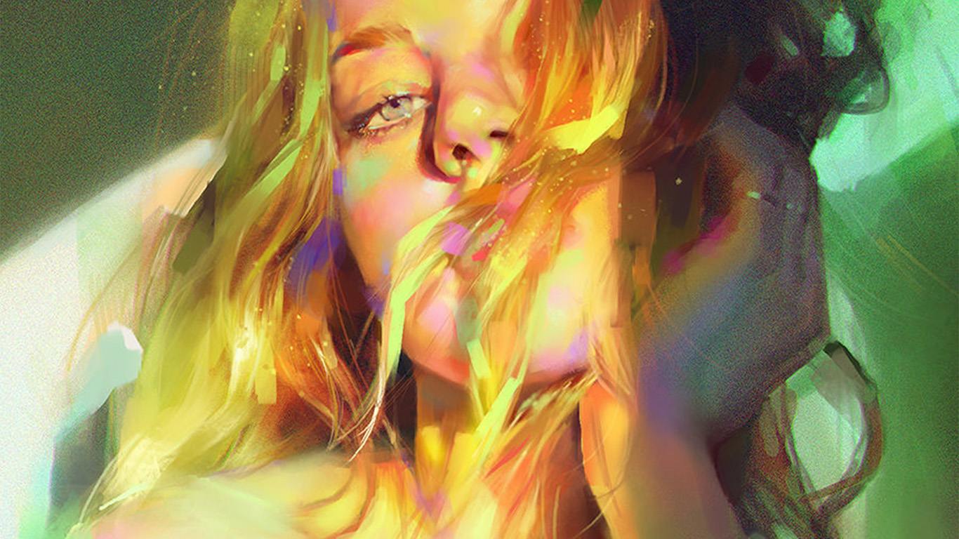 desktop-wallpaper-laptop-mac-macbook-air-aw52-yanjun-cheng-girl-green-sexy-illustration-art-wallpaper