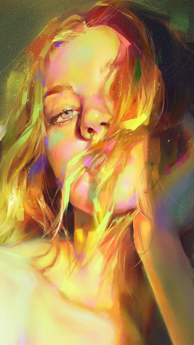iPhone6papers.co-Apple-iPhone-6-iphone6-plus-wallpaper-aw52-yanjun-cheng-girl-green-sexy-illustration-art