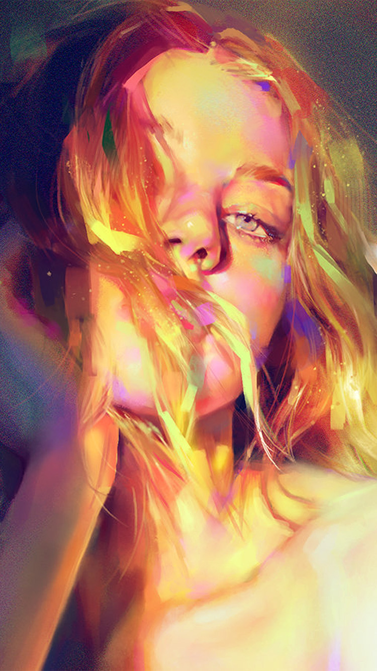 Papers.co-iPhone5-iphone6-plus-wallpaper-aw53-yanjun-cheng-girl-green-sexy-illustration-art-paint