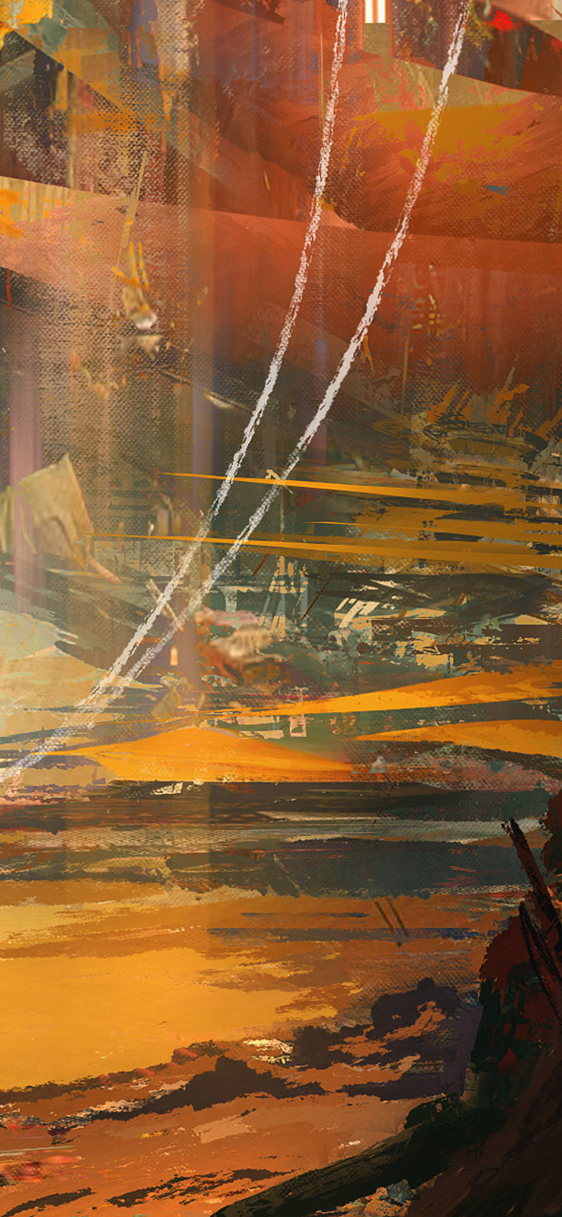 Papers Co Iphone Wallpaper Aw54 Wadim Kashin Paint Abstract Red Illustration Art