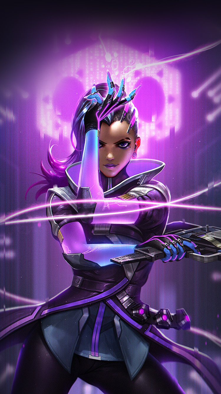 iPhone7papers.com-Apple-iPhone7-iphone7plus-wallpaper-aw56-liang-xing-overwatch-sombra-purple-game-hero-illustration-art