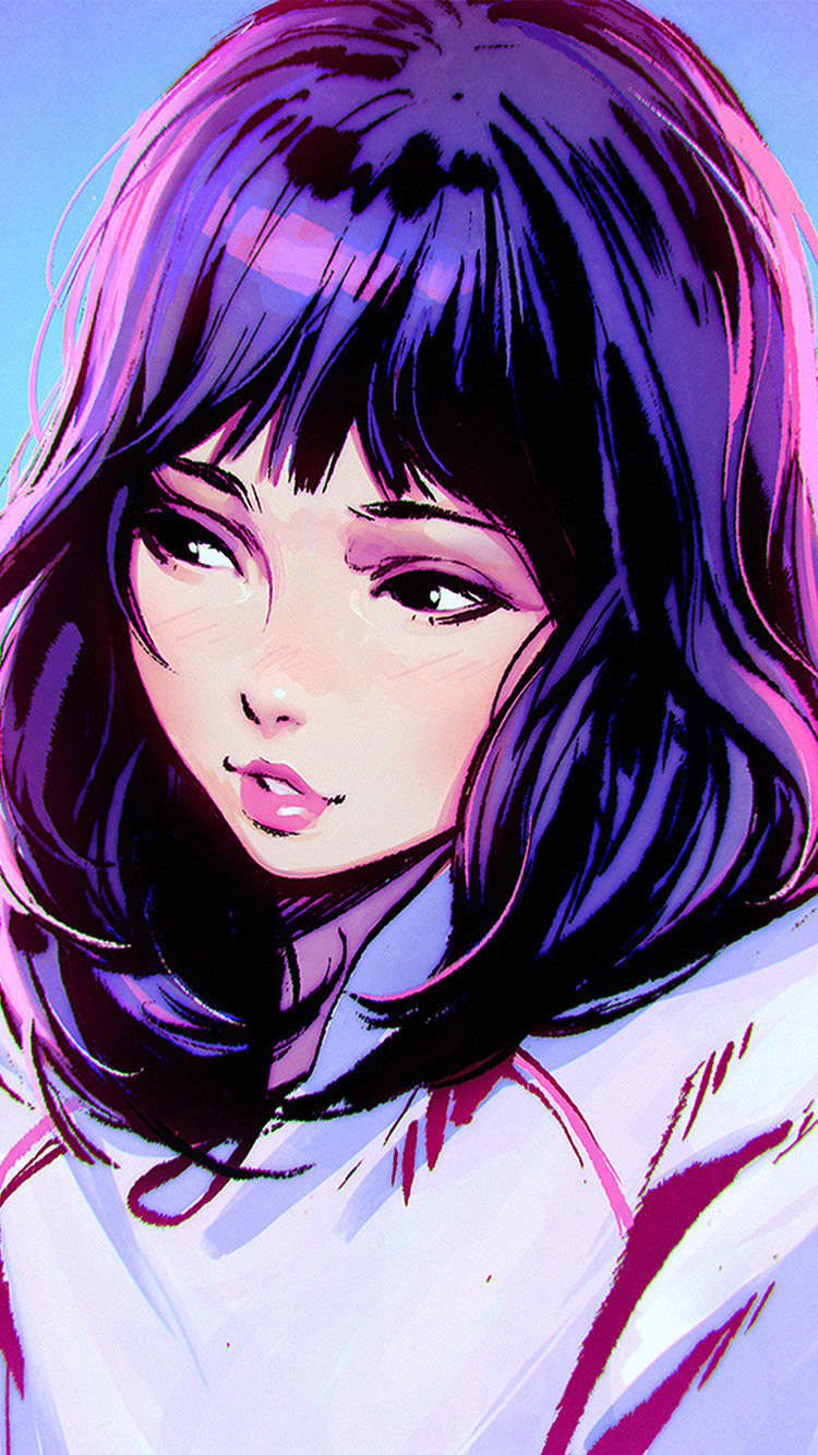 iPhone6papers.co-Apple-iPhone-6-iphone6-plus-wallpaper-aw57-ilya-kuvshinov-girl-purple-face-illustration-art