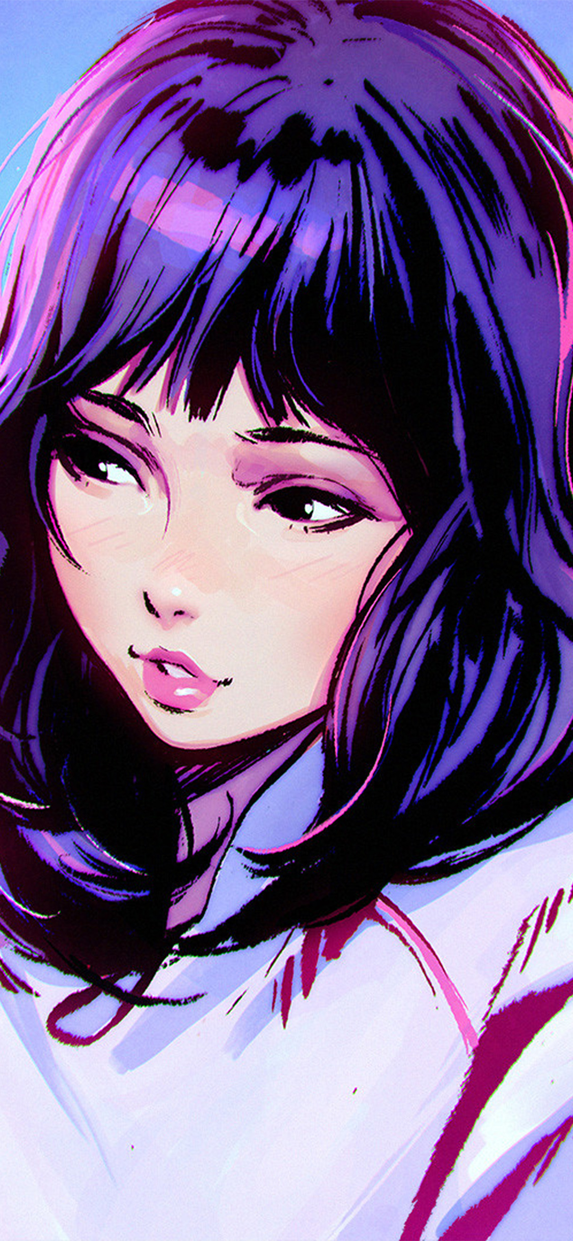 iPhoneXpapers.com-Apple-iPhone-wallpaper-aw57-ilya-kuvshinov-girl-purple-face-illustration-art