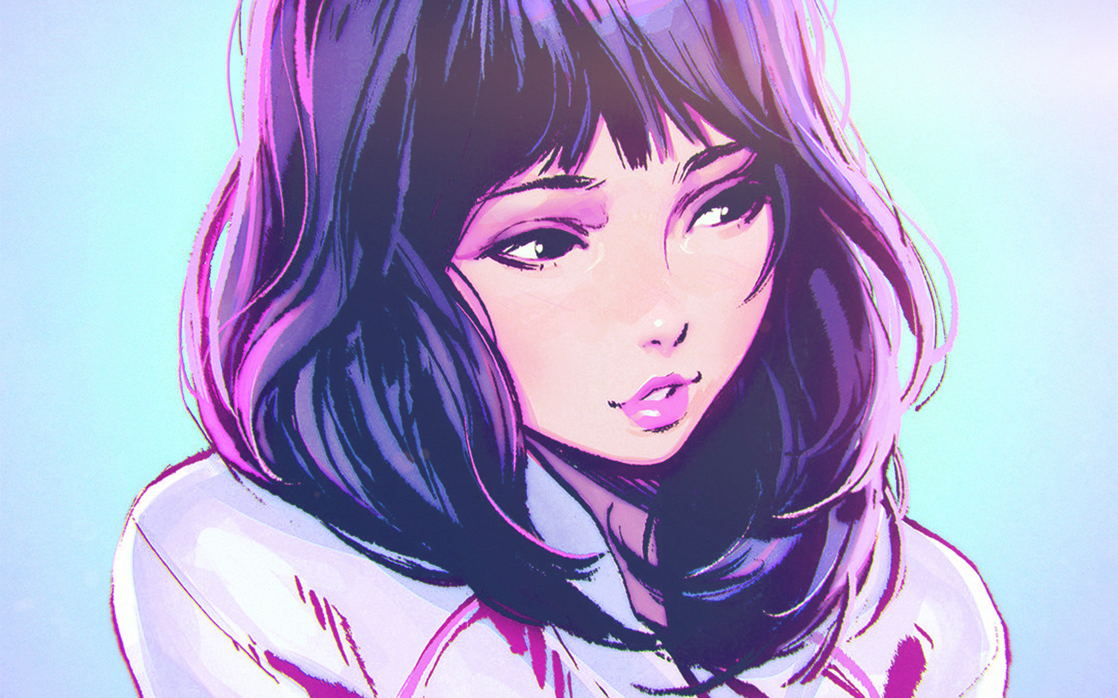 Aw58-ilya-kuvshinov-girl-blue-face-illustration-art-wallpaper