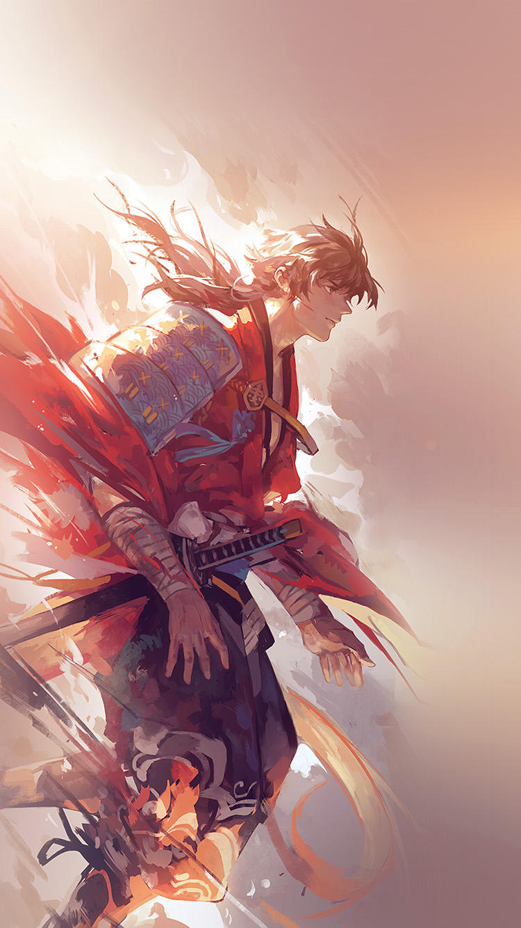 Papers.co-iPhone5-iphone6-plus-wallpaper-aw64-hanyijie-hero-red-handsomeillustration-art-anime-flare