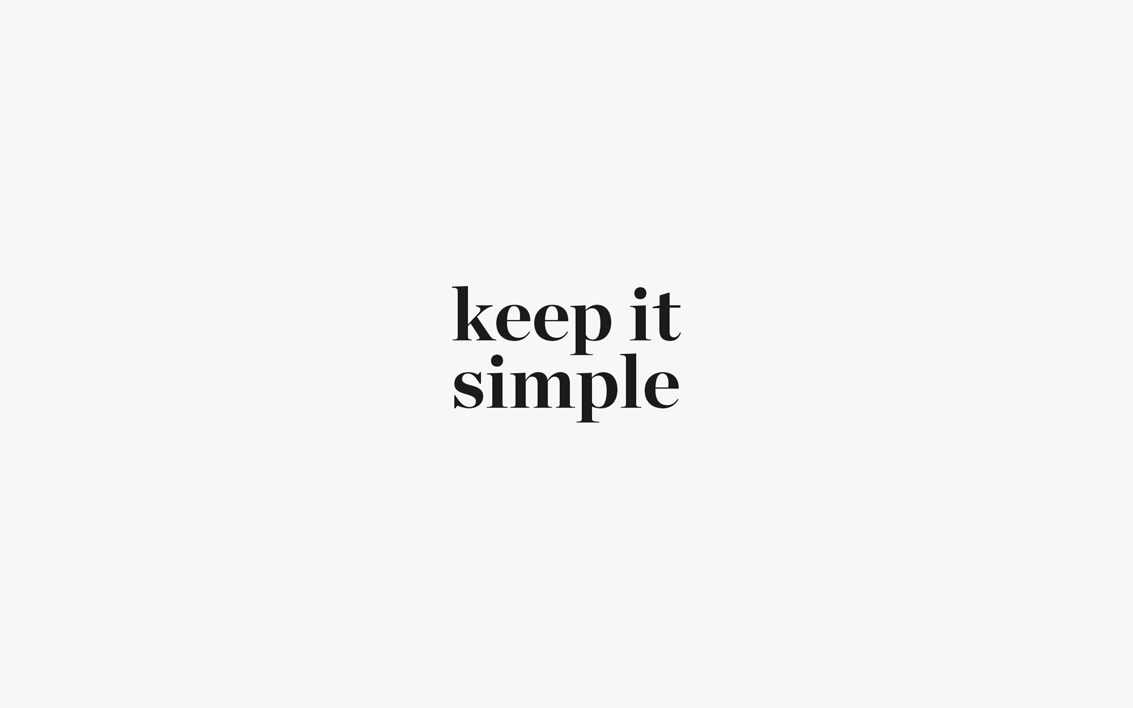 Aw74 Keep It Simple Word Quote White Illustration Art Wallpaper