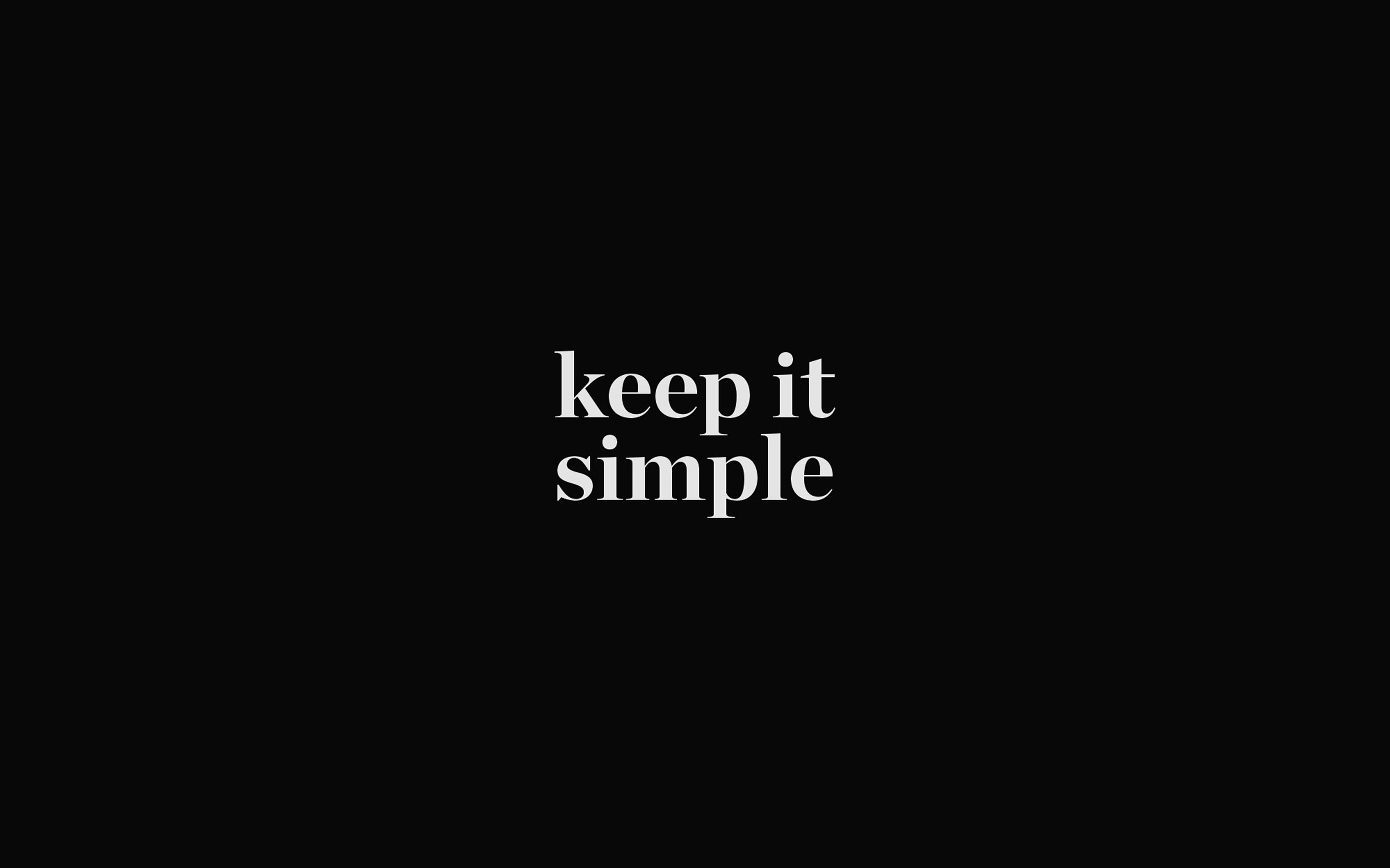 Aw75 Keep It Simple Word Quote Dark Illustration Art Wallpaper