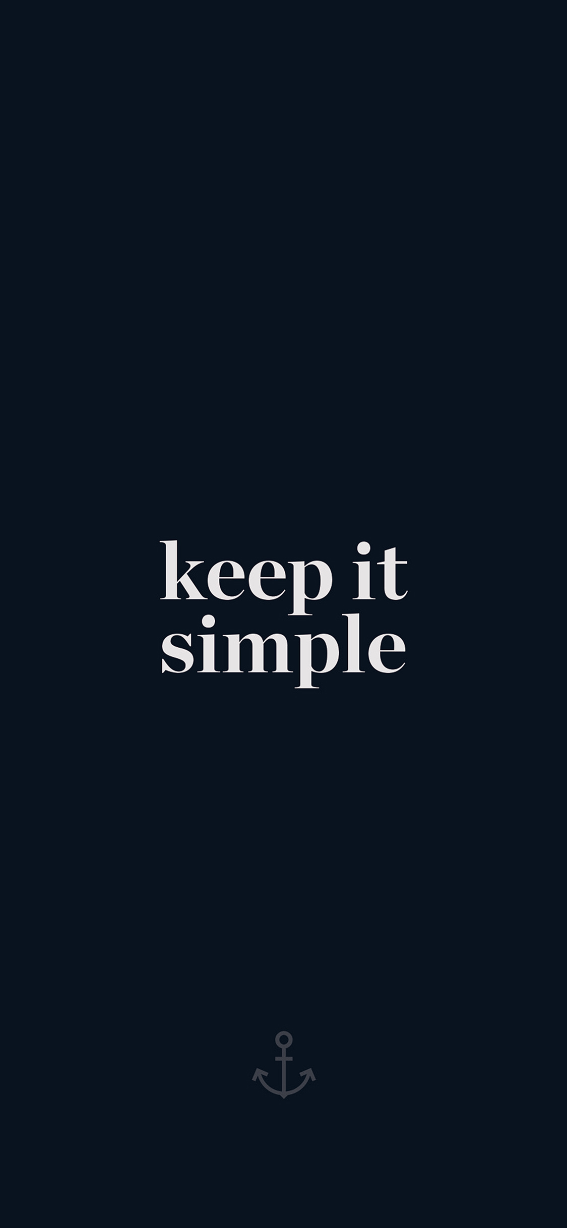 iPhoneXpapers.com-Apple-iPhone-wallpaper-aw76-keep-it-simple-word-quote-dark-blue-illustration-art