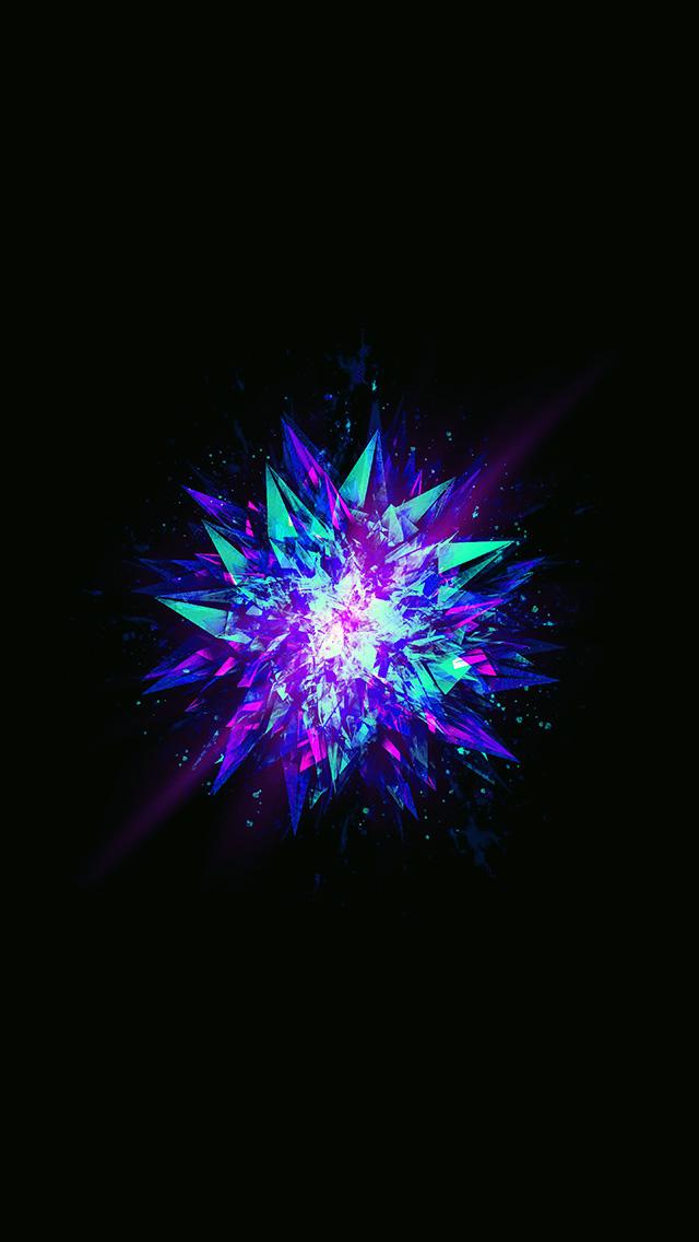 freeios8.com-iphone-4-5-6-plus-ipad-ios8-aw80-fractal-blast-minimal-dark-abstract-illustration-art-blue