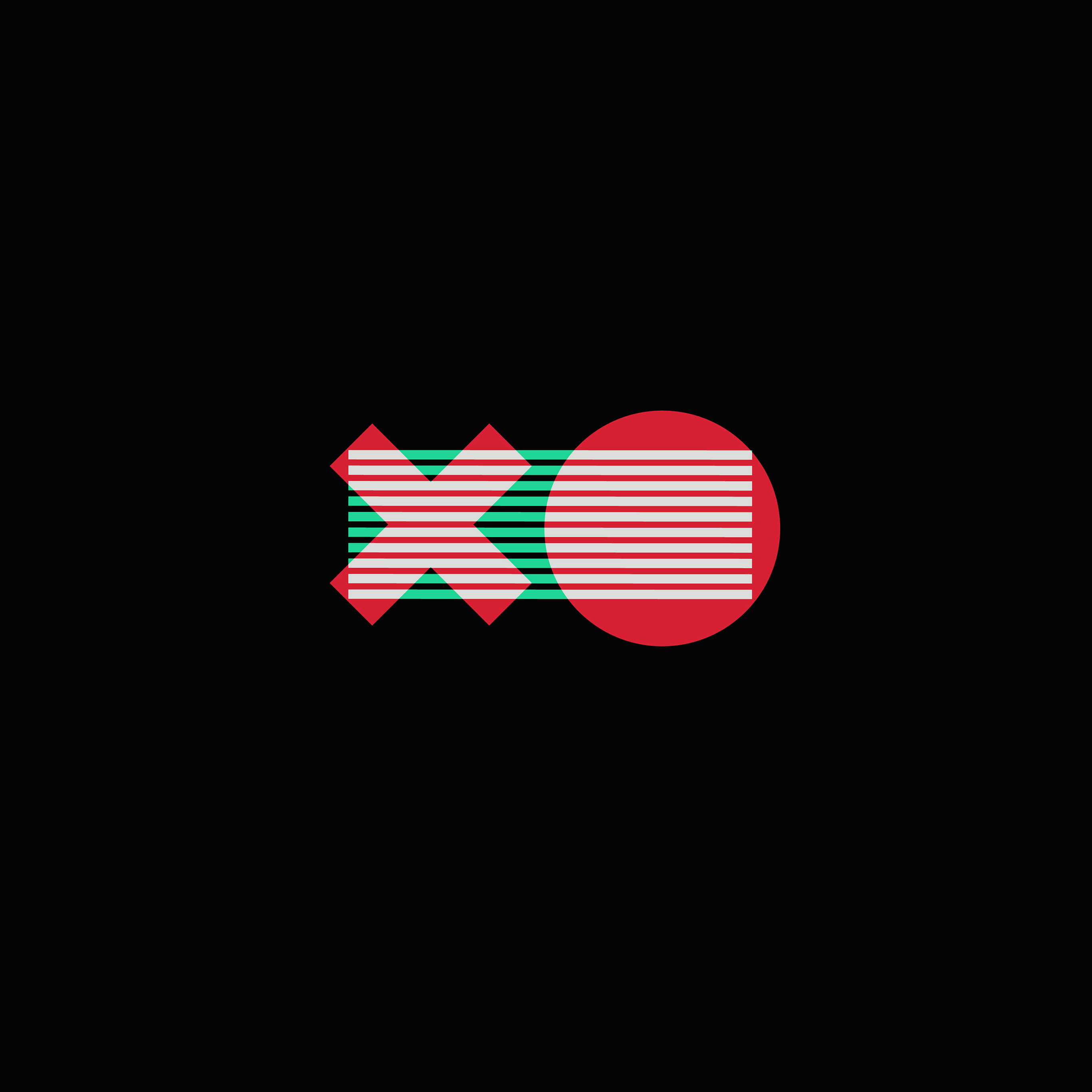 Aw86 X O Logo Minimal Dark Illustration Art Red Green Wallpaper