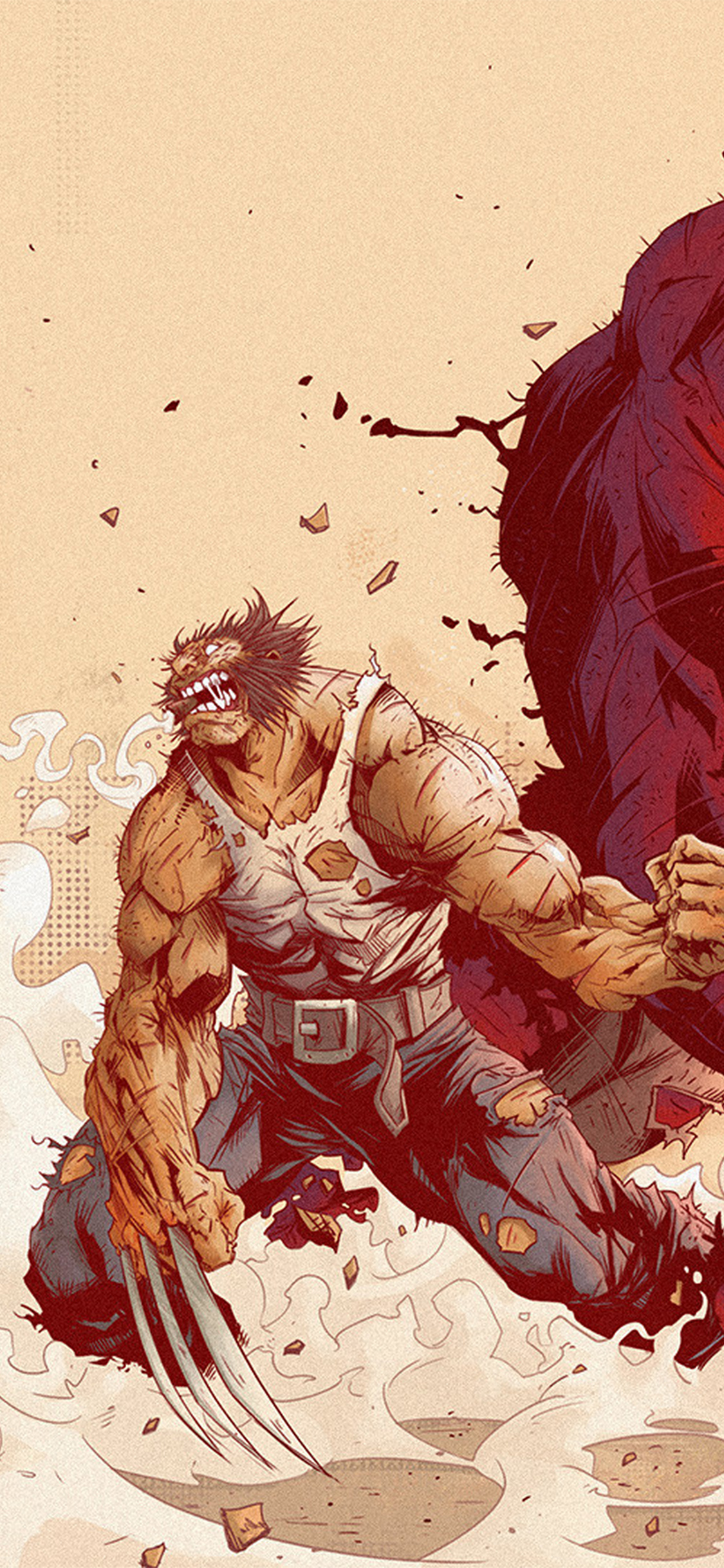 iPhoneXpapers.com-Apple-iPhone-wallpaper-aw94-wolverine-anime-tonton-revolver-illustration-art