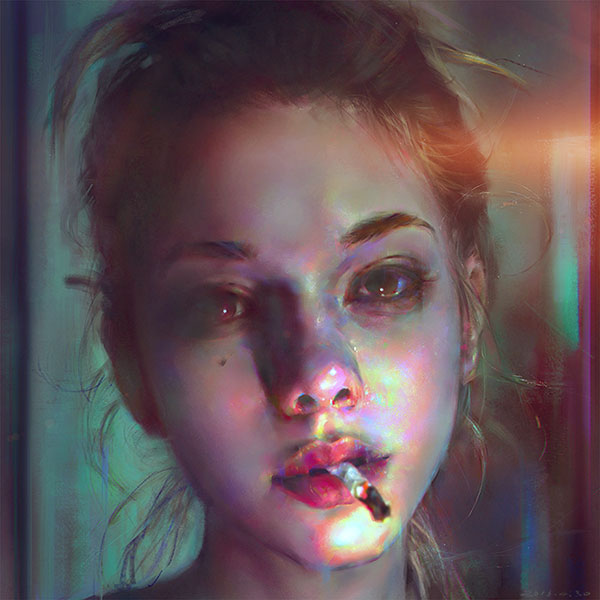 iPapers.co-Apple-iPhone-iPad-Macbook-iMac-wallpaper-aw97-yanjun-cheng-paint-face-girl-illustration-art-dark-flare-wallpaper