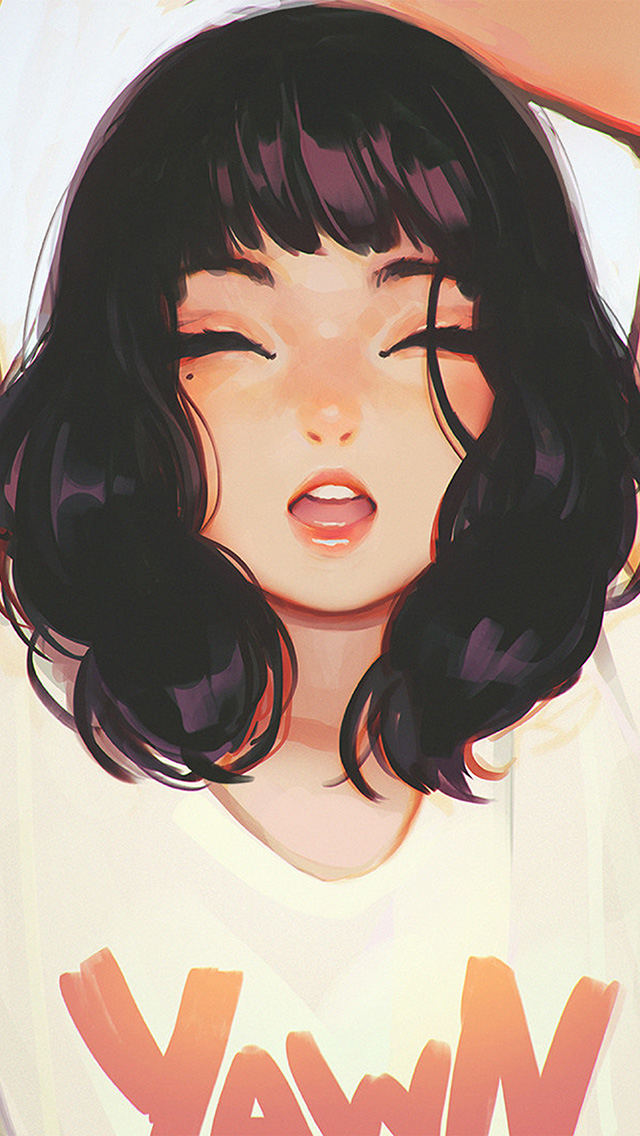 freeios8.com-iphone-4-5-6-plus-ipad-ios8-ax04-girl-smile-ilya-kuvshinov-illustration-art