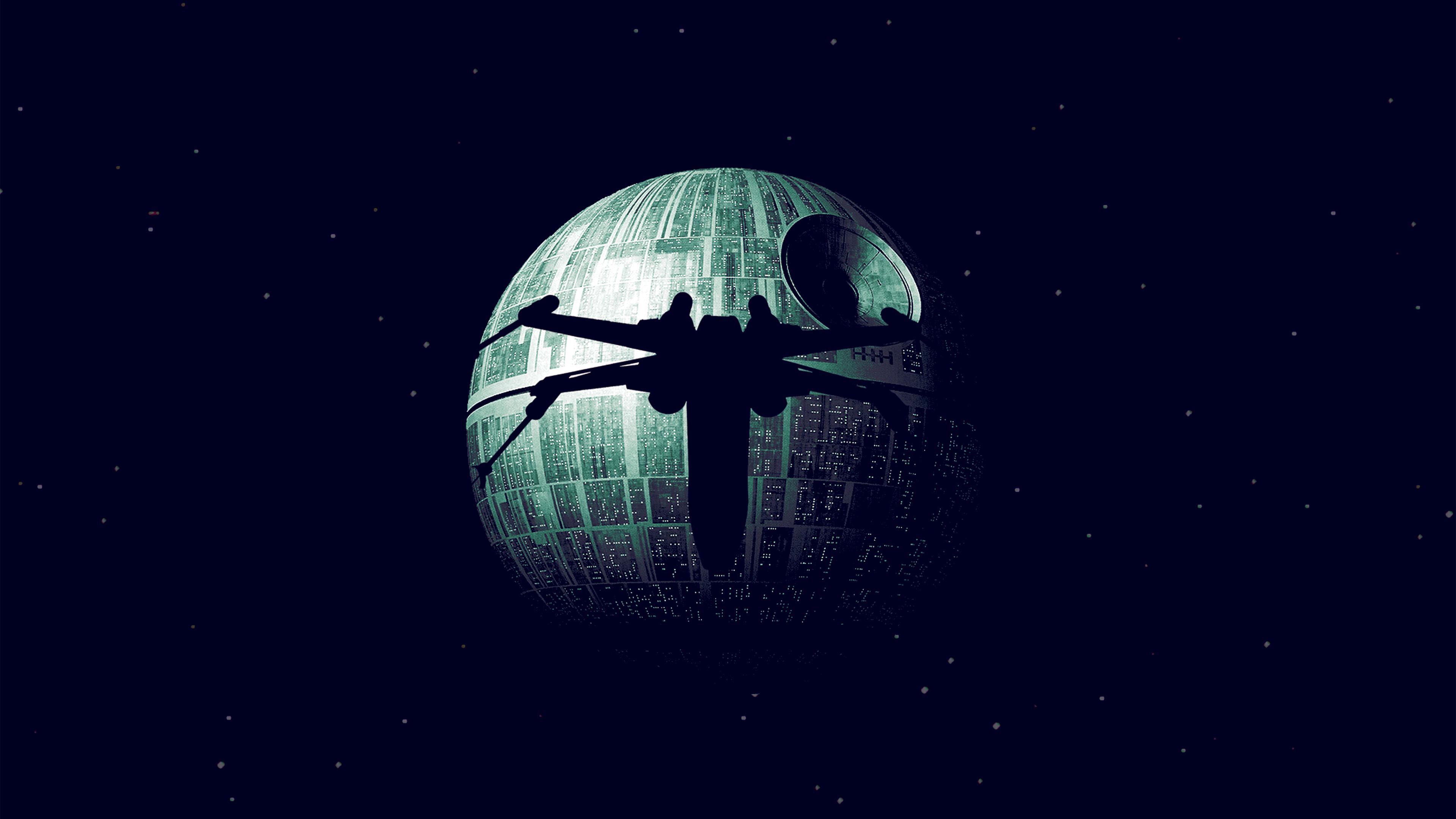 Ax07 Rogue One Dark Space Starwars Poster Illustration Art Blue Wallpaper