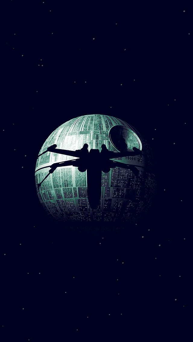 Iphone6papers Com Iphone 6 Wallpaper Ax07 Rogue One Dark Space Starwars Poster Illustration Art Blue