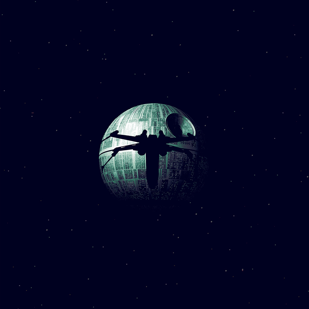 wallpaper-ax07-rogue-one-dark-space-starwars-poster-illustration-art-blue-wallpaper