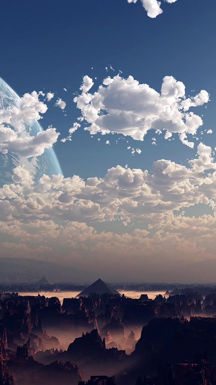 Papers.co-iPhone5-iphone6-plus-wallpaper-ax13-sky-space-blue-illustration-art-cloud