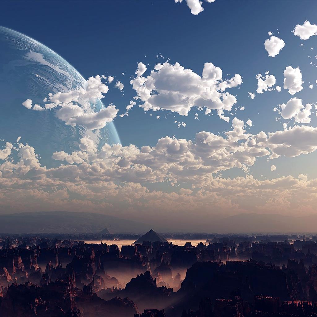 android-wallpaper-ax13-sky-space-blue-illustration-art-cloud-wallpaper