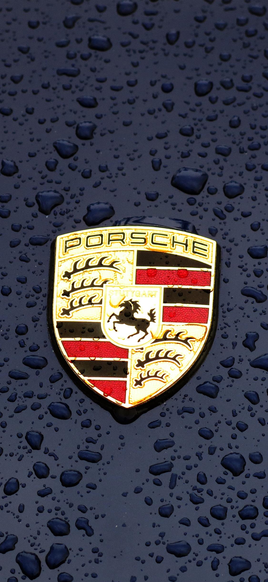 Iphonexpapers Com Iphone X Wallpaper Ax14 Porsche Logo Emblem