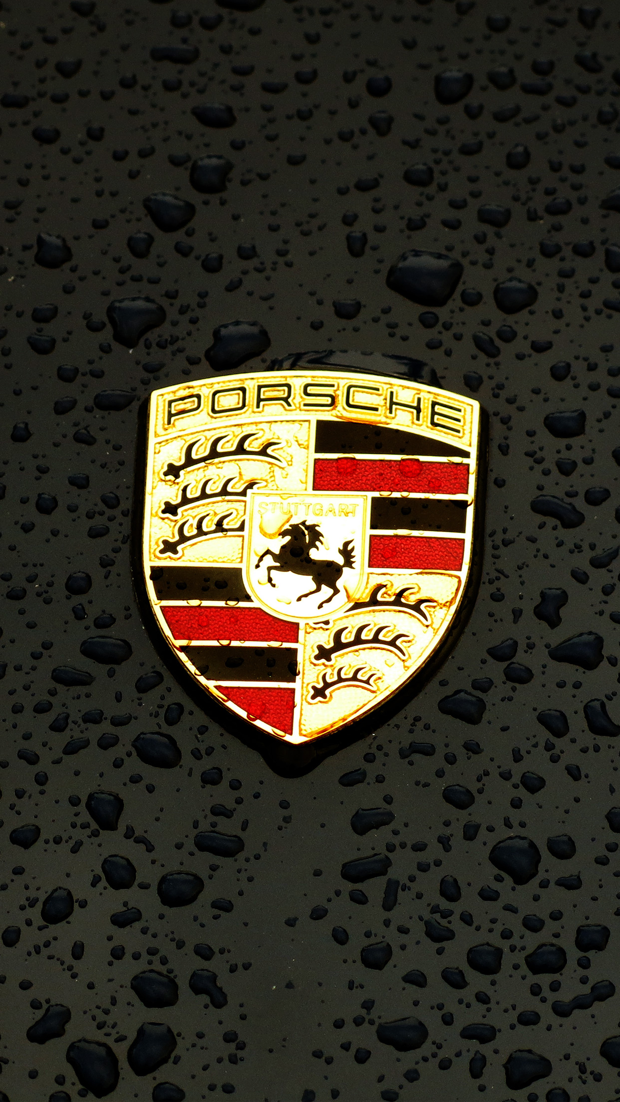 Iphone7papers Com Iphone7 Wallpaper Ax15 Porsche Logo Emblem Car Illustration Art Dark