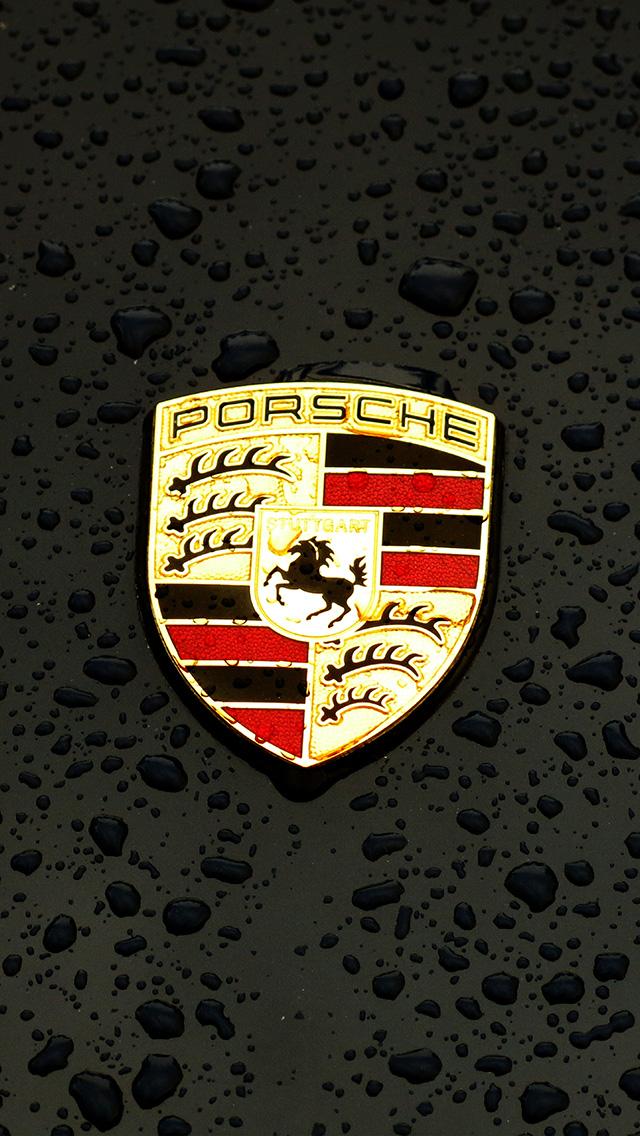 freeios8.com-iphone-4-5-6-plus-ipad-ios8-ax15-porsche-logo-emblem-car-illustration-art-dark