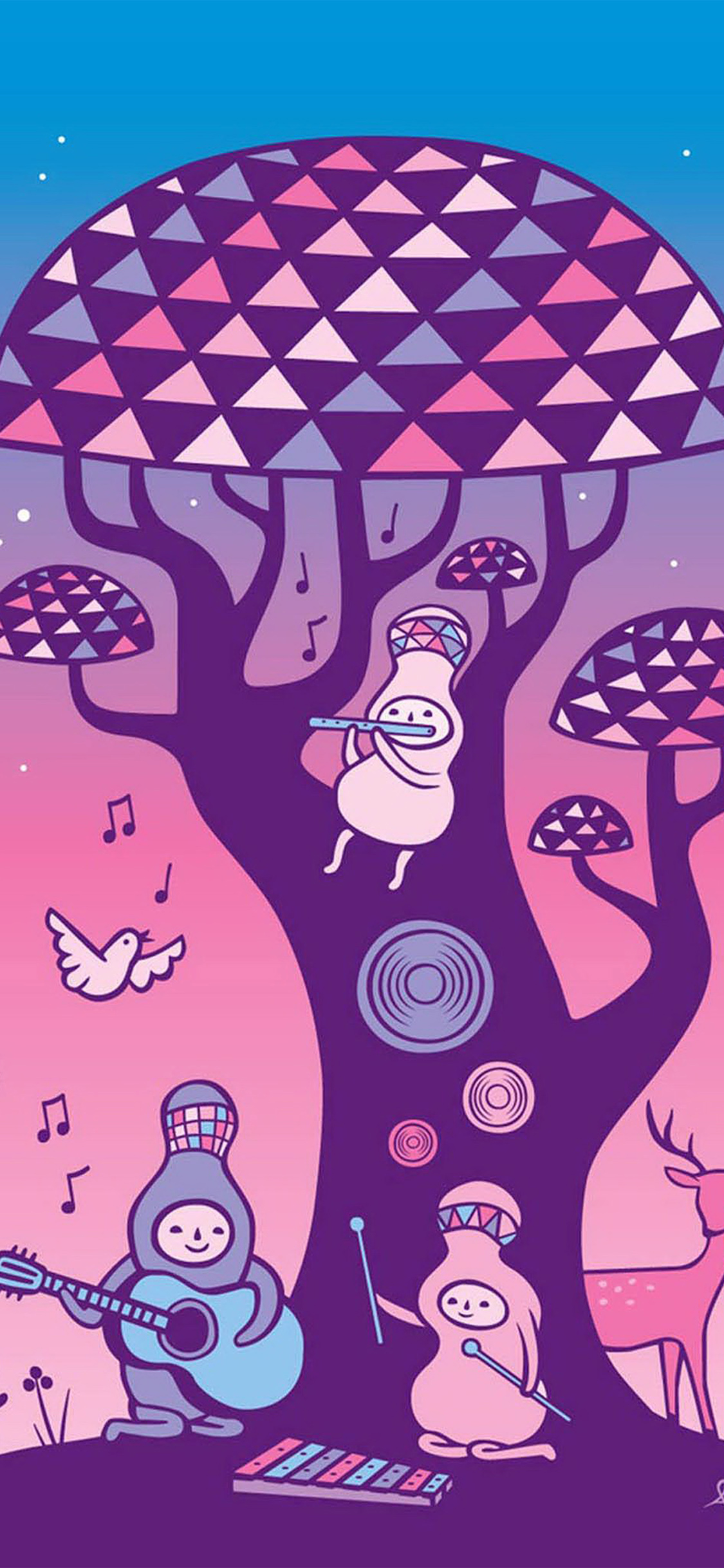 iPhoneXpapers.com-Apple-iPhone-wallpaper-ax17-cute-music-characters-illustration-art