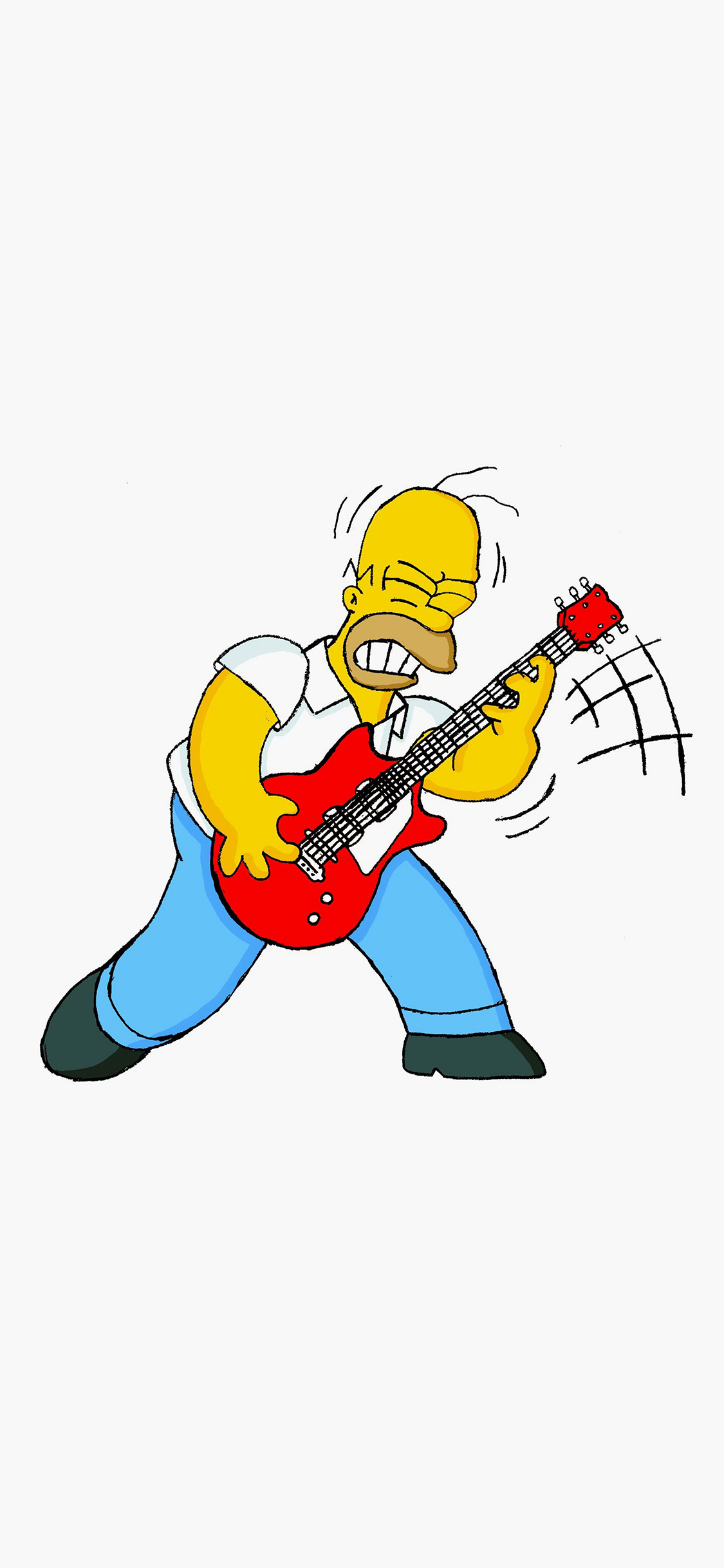 iPhoneXpapers.com-Apple-iPhone-wallpaper-ax19-homer-simpson-music-white-illustration-art