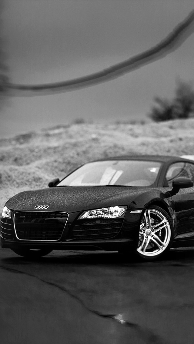 freeios8.com-iphone-4-5-6-plus-ipad-ios8-ax28-audi-car-rain-illustration-art-bw-dark