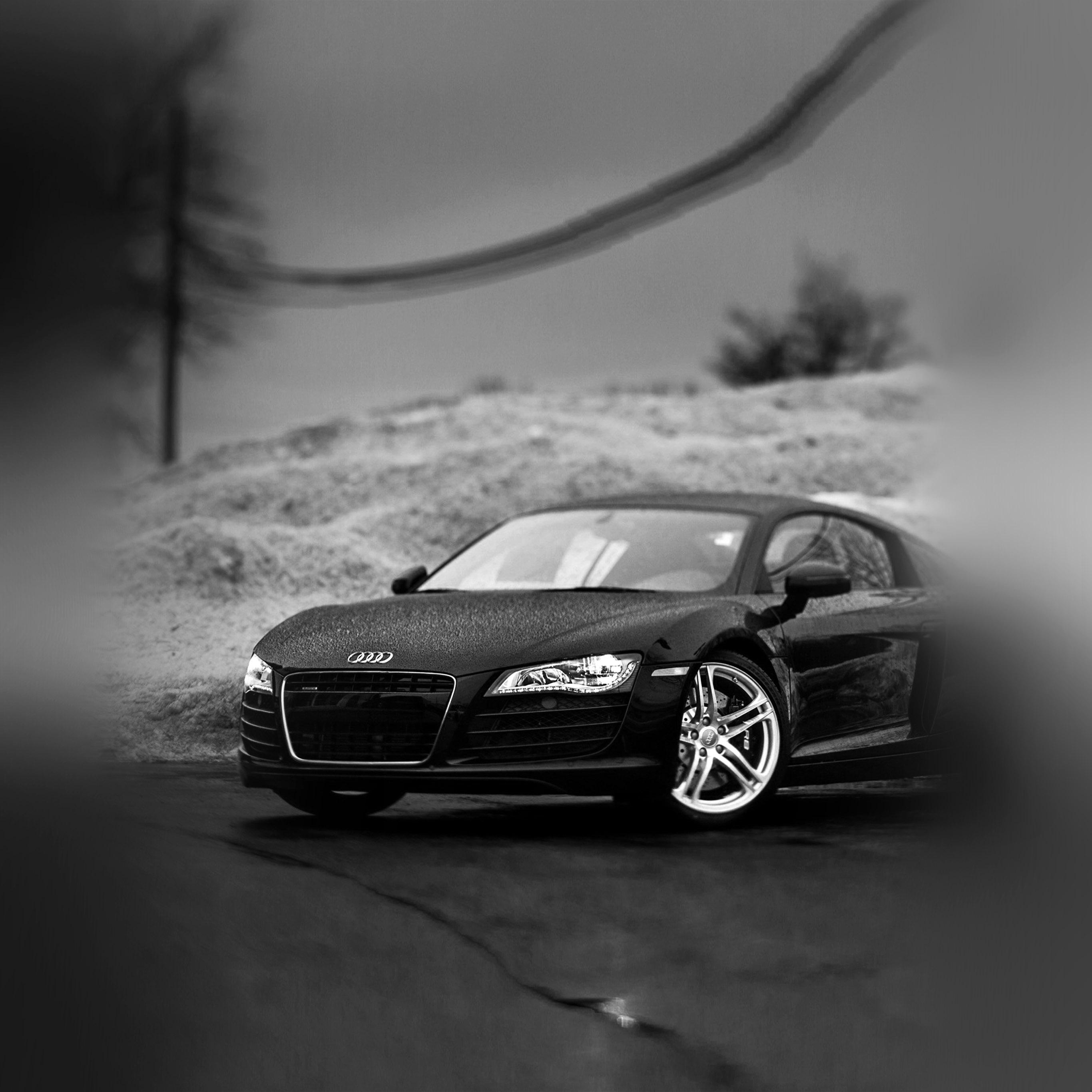 Audi Car Wallpaper: Ax28-audi-car-rain-illustration-art-bw-dark
