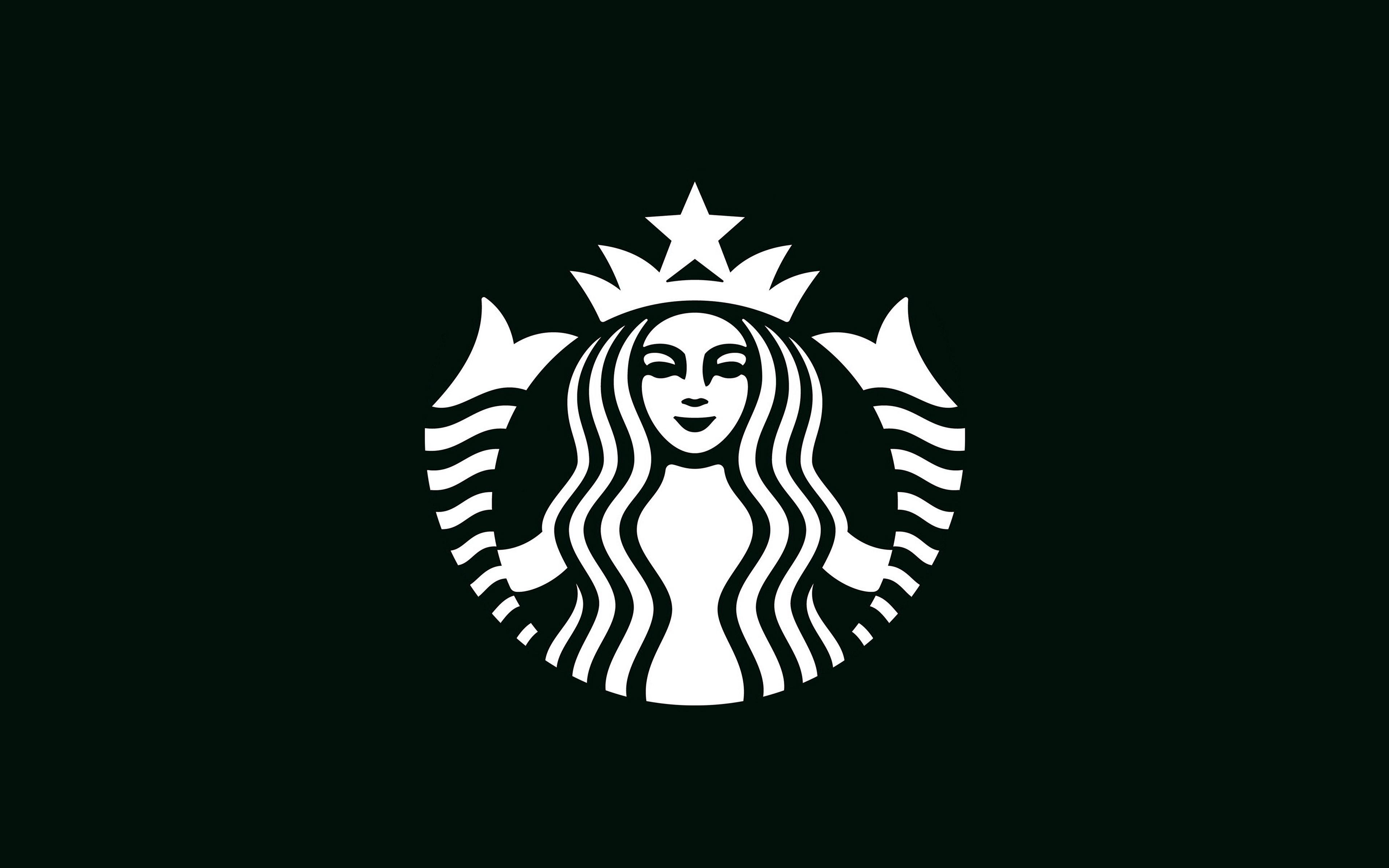 Ax30 Starbucks Logo Dark Bw Illustration Art Wallpaper