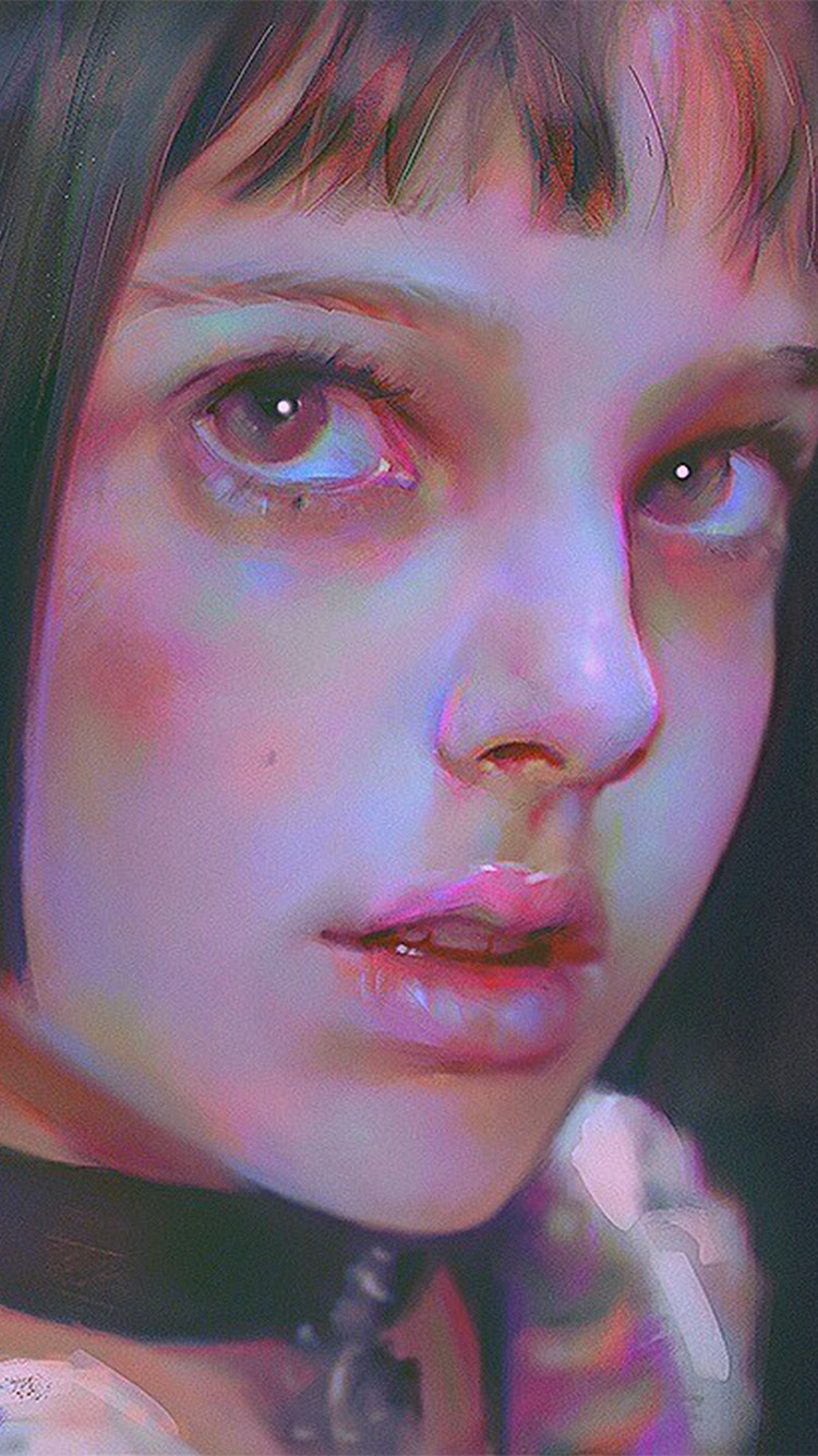 Papers.co-iPhone5-iphone6-plus-wallpaper-ax50-matilda-leon-paint-illustration-art-yanjun-cheng