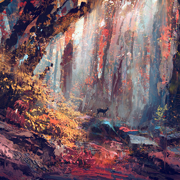 iPapers.co-Apple-iPhone-iPad-Macbook-iMac-wallpaper-ax53-rain-deer-forest-illustration-art-wadim-kashin-blue-wallpaper