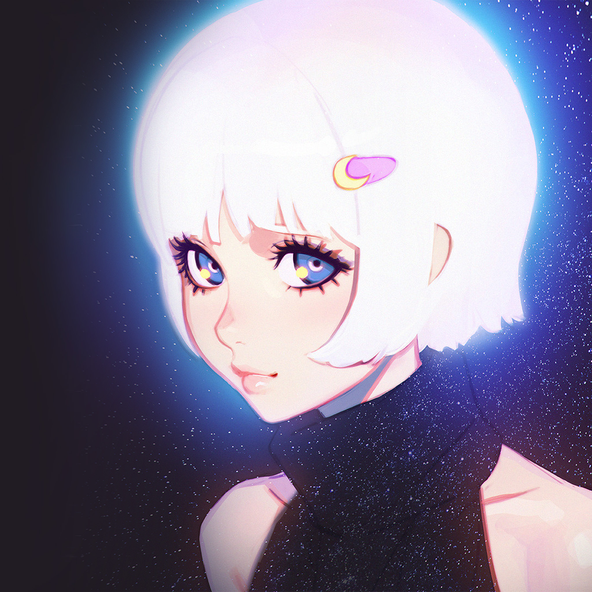 Ax54-ilya-kuvshinov-illustration-art-girl-dark-white-hair