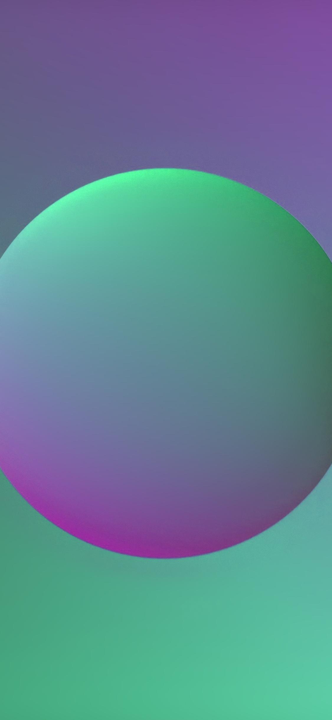 iPhoneXpapers.com-Apple-iPhone-wallpaper-ax58-minimal-ball-gradation-purple-green-illustration-art