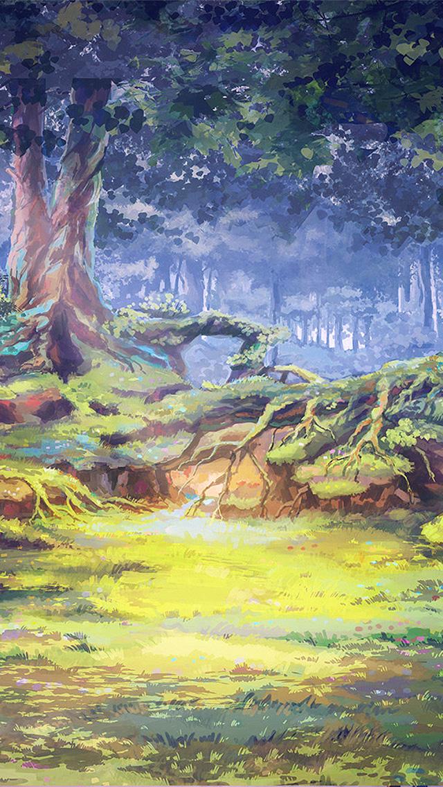 freeios8.com-iphone-4-5-6-plus-ipad-ios8-ax70-arseniy-chebynkin-nature-illustration-art-forest